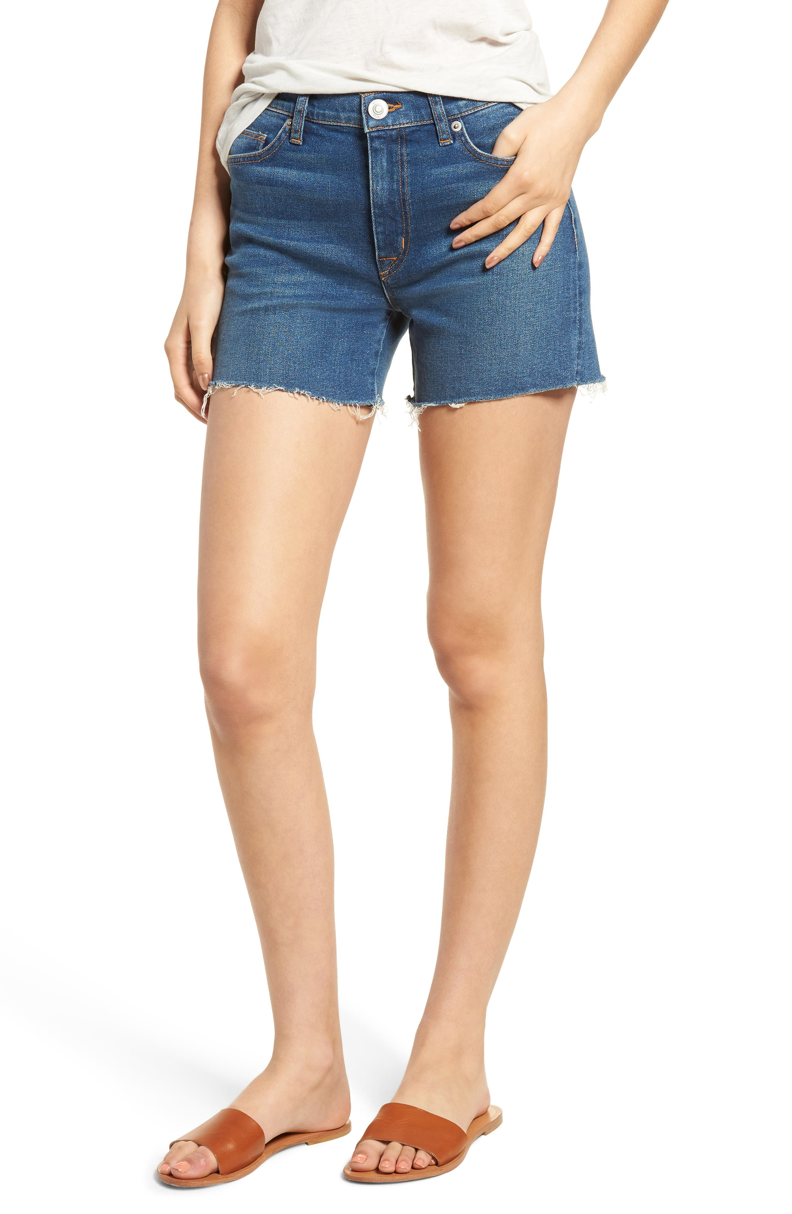 Valeri Cutoff Denim Shorts,                         Main,                         color, Take Flight