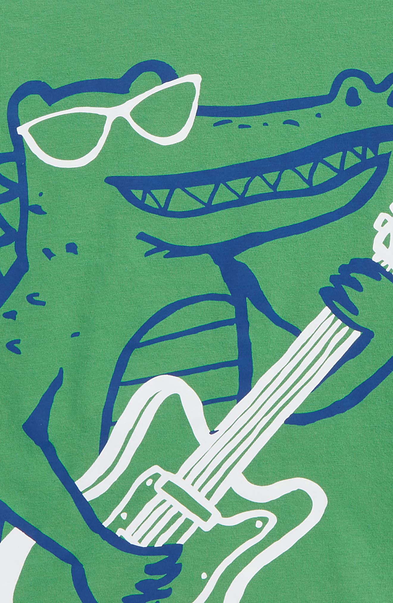 Arty Croc T-Shirt,                             Alternate thumbnail 2, color,                             Iguana Green Croc