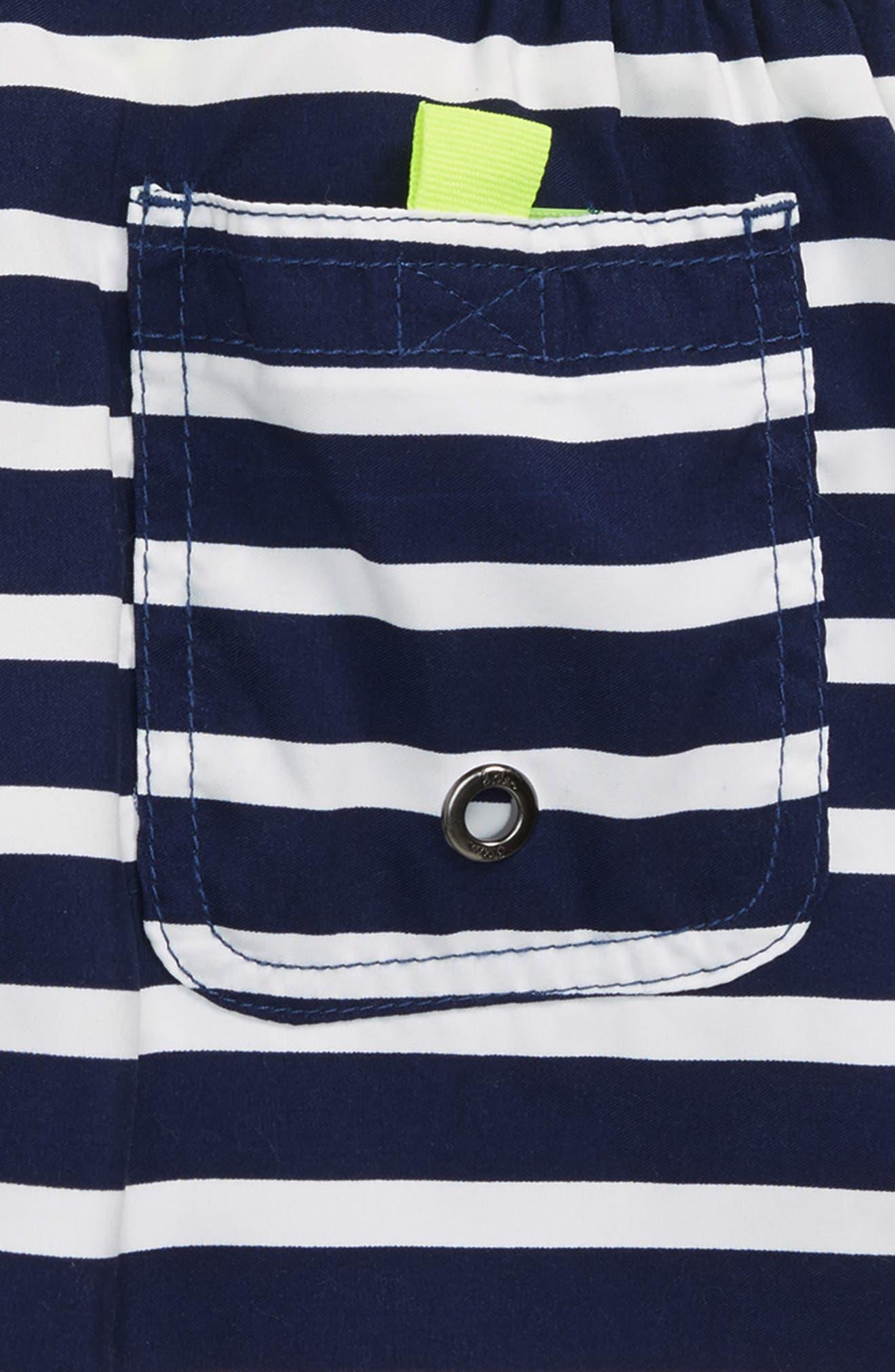 Stripe Board Shorts,                             Alternate thumbnail 3, color,                             Beacon Blue/ Ecru