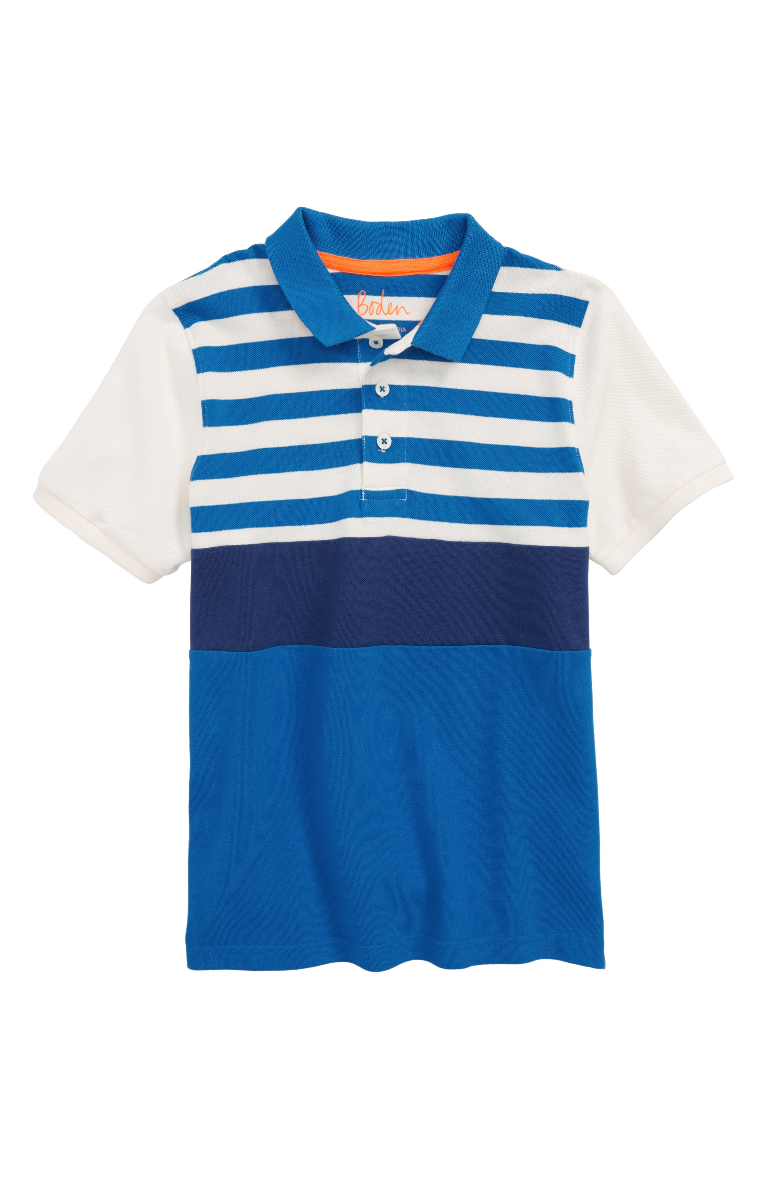 Colorblock Piqué Polo,                         Main,                         color, Yogo Blue