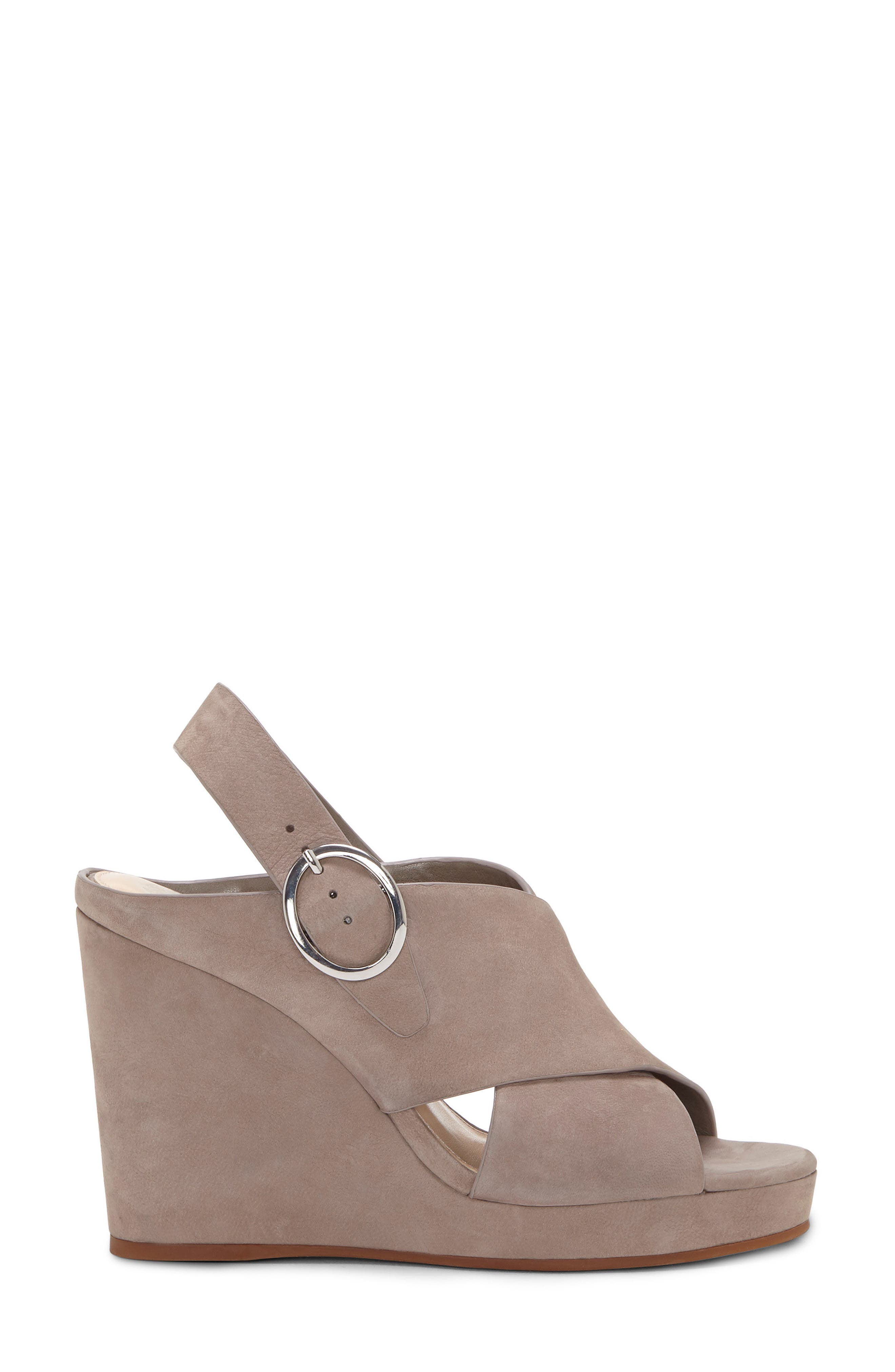 Iteena Wedge Sandal,                             Alternate thumbnail 4, color,                             Hippo Grey Leather