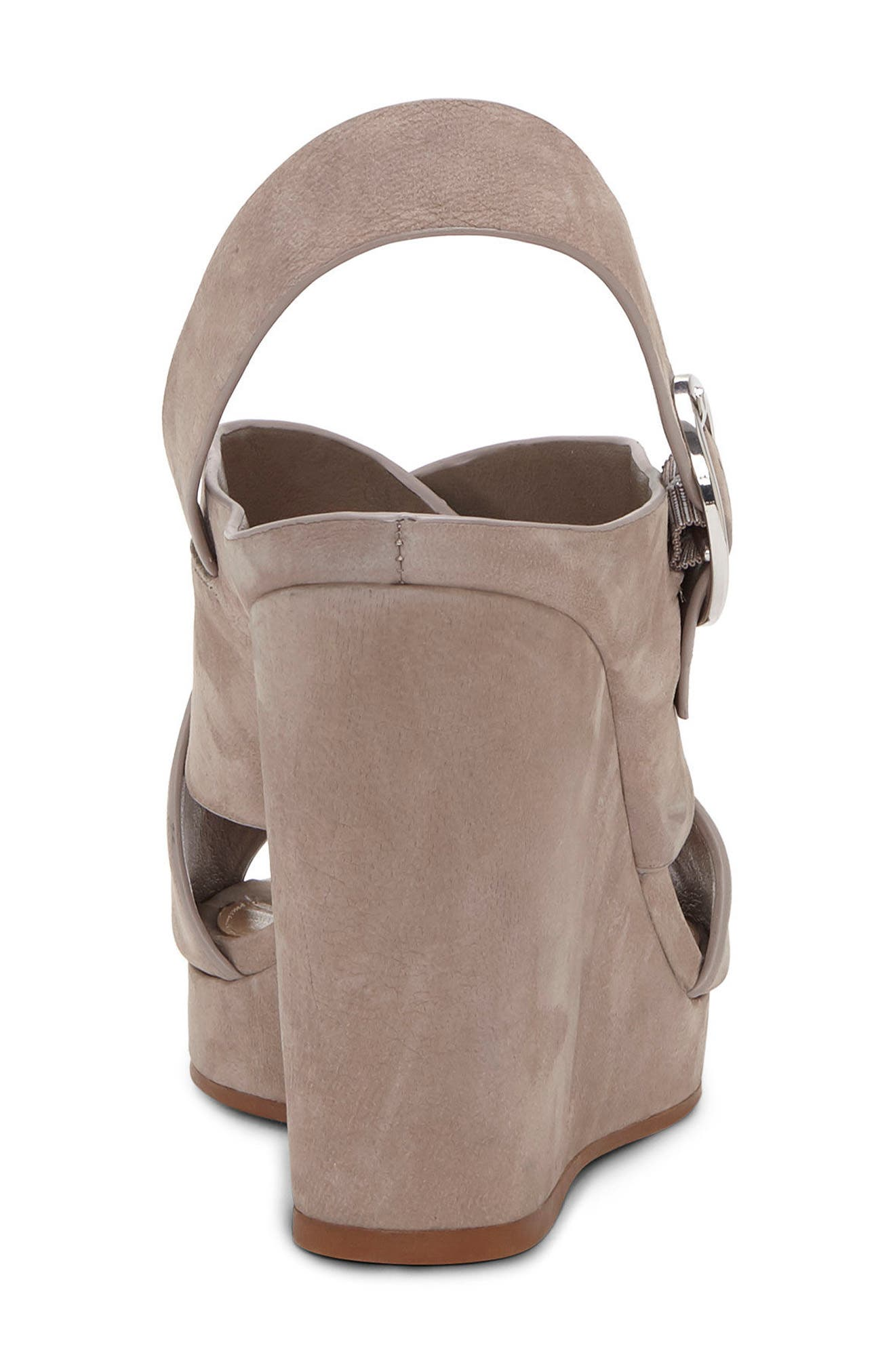 Iteena Wedge Sandal,                             Alternate thumbnail 6, color,                             Hippo Grey Leather