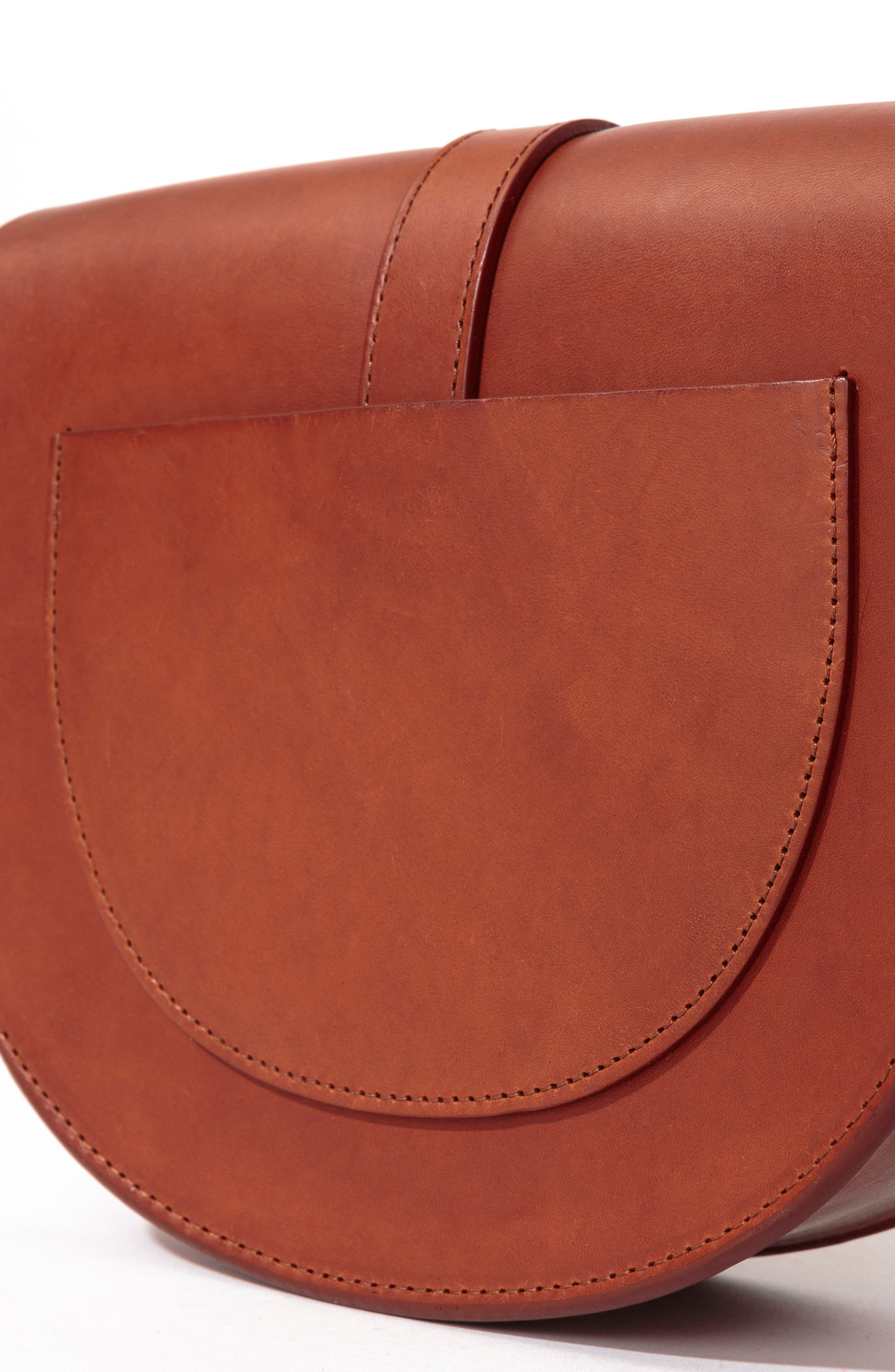 Claude Crossbody Bag,                             Alternate thumbnail 5, color,                             Chocolate