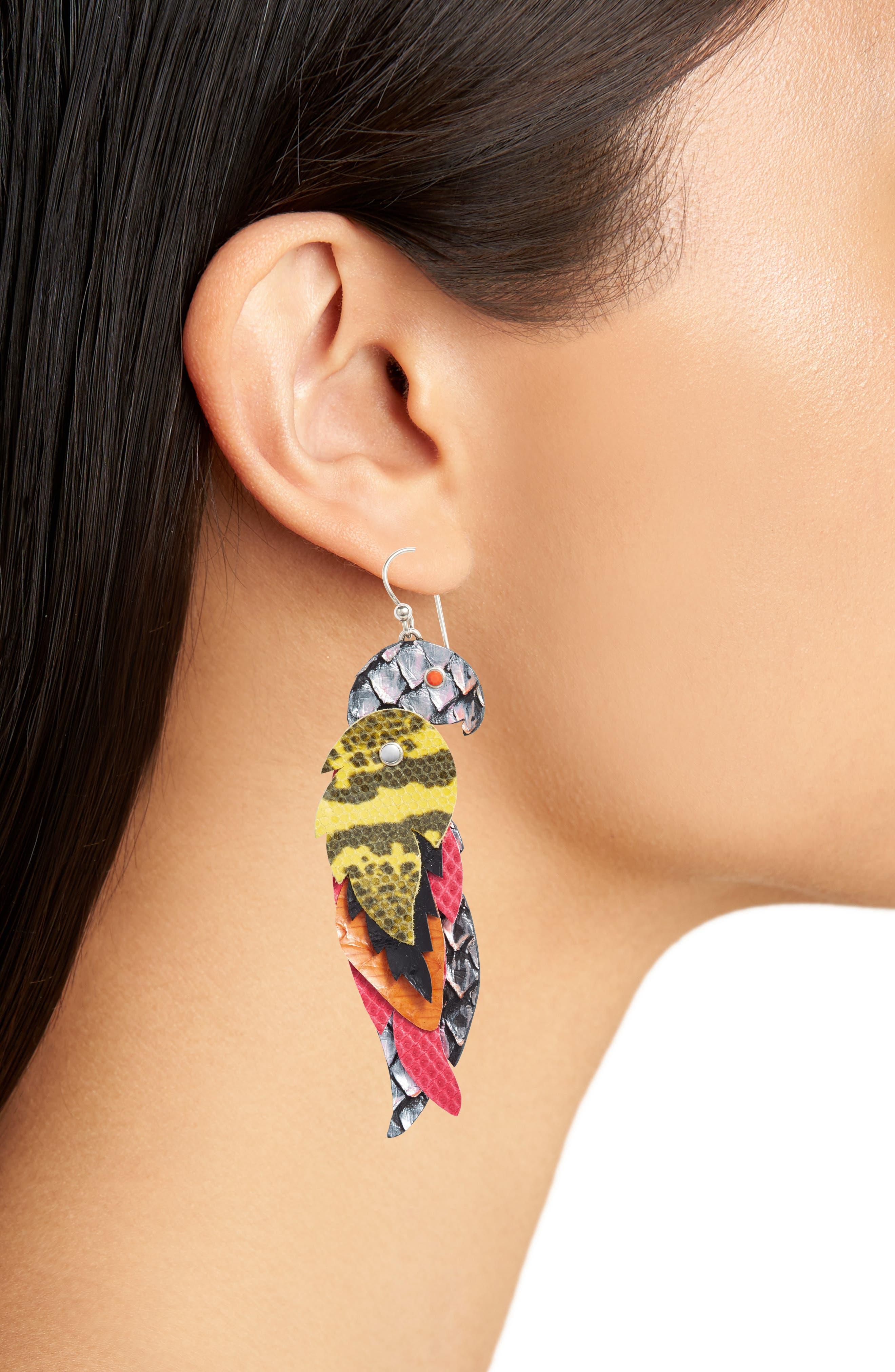 Layer Drop Earrings,                             Alternate thumbnail 2, color,                             Blue Multi