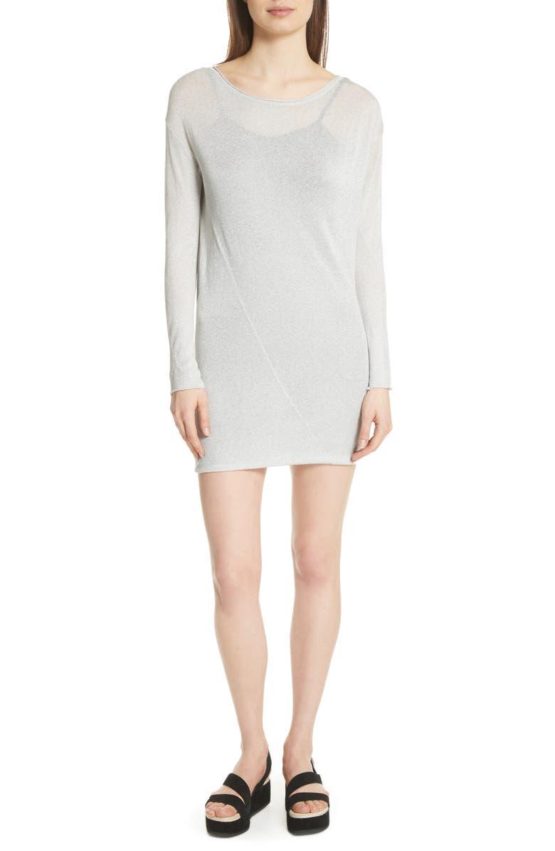 Flora Metallic Sweater Dress
