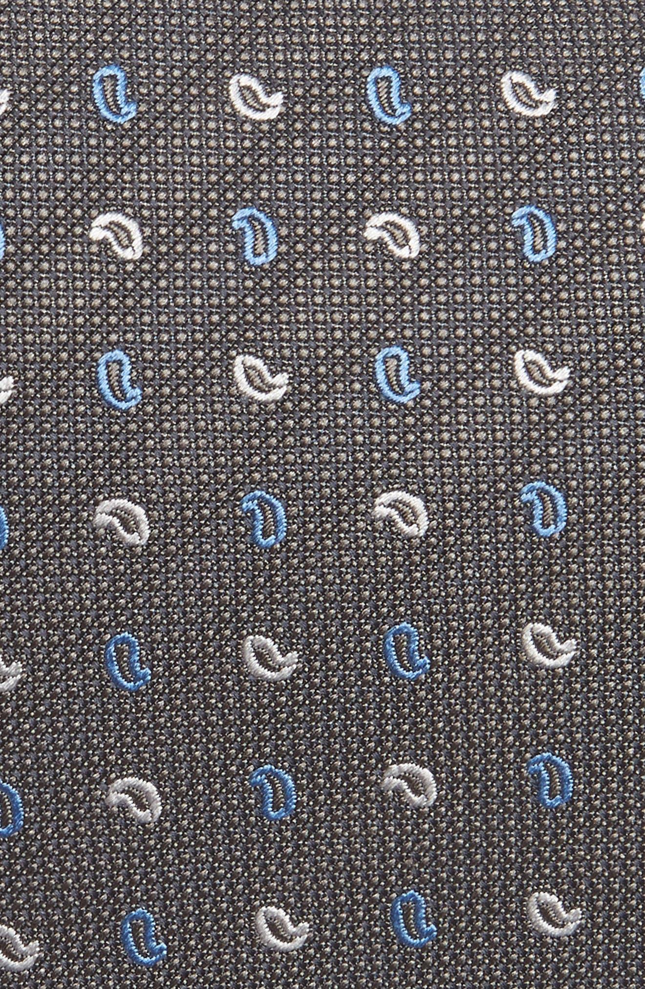 Alternate Image 2  - David Donahue Paisley Silk Tie (X-Long)