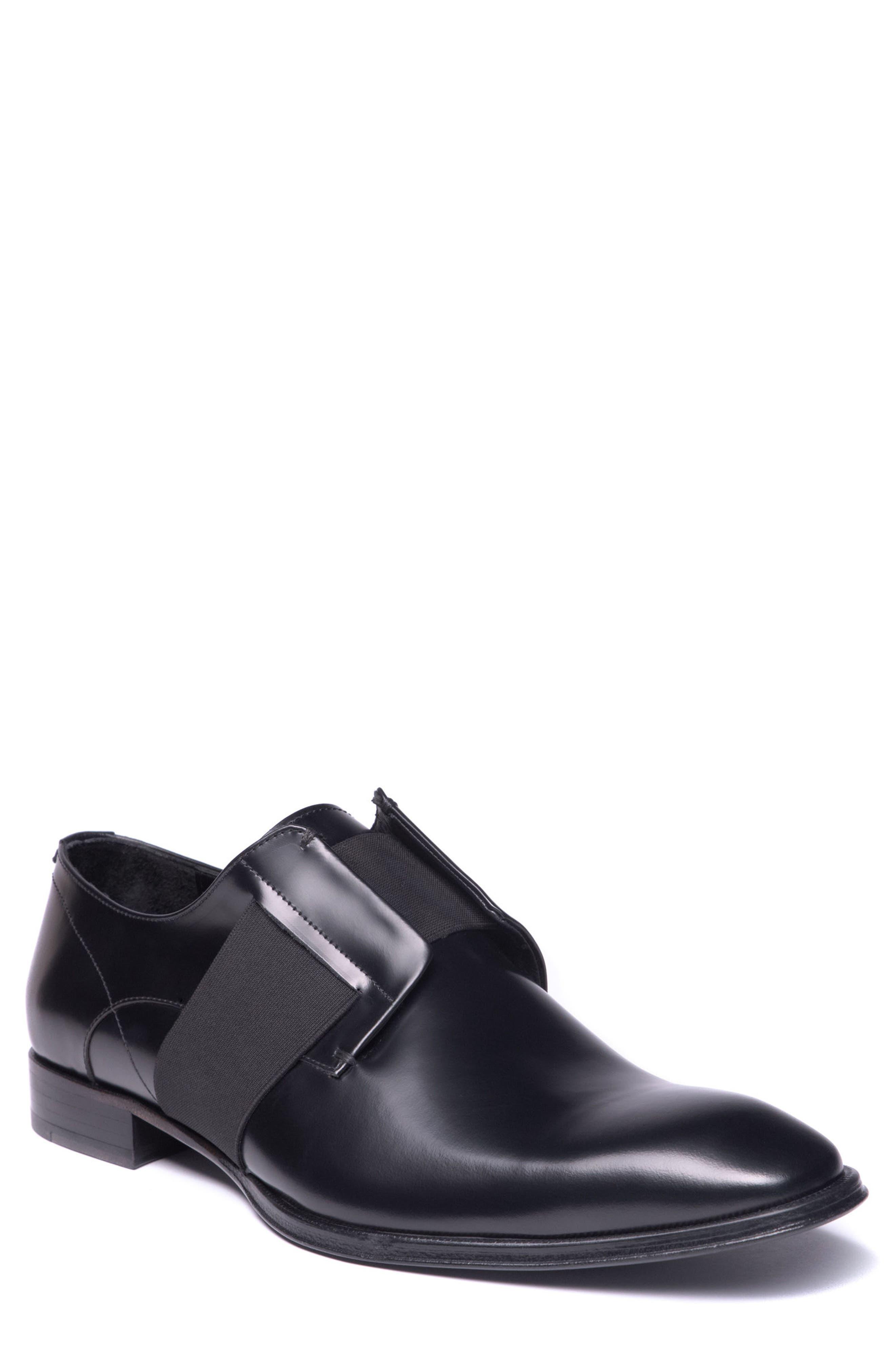 Emilo Laceless Derby,                         Main,                         color, Black Leather