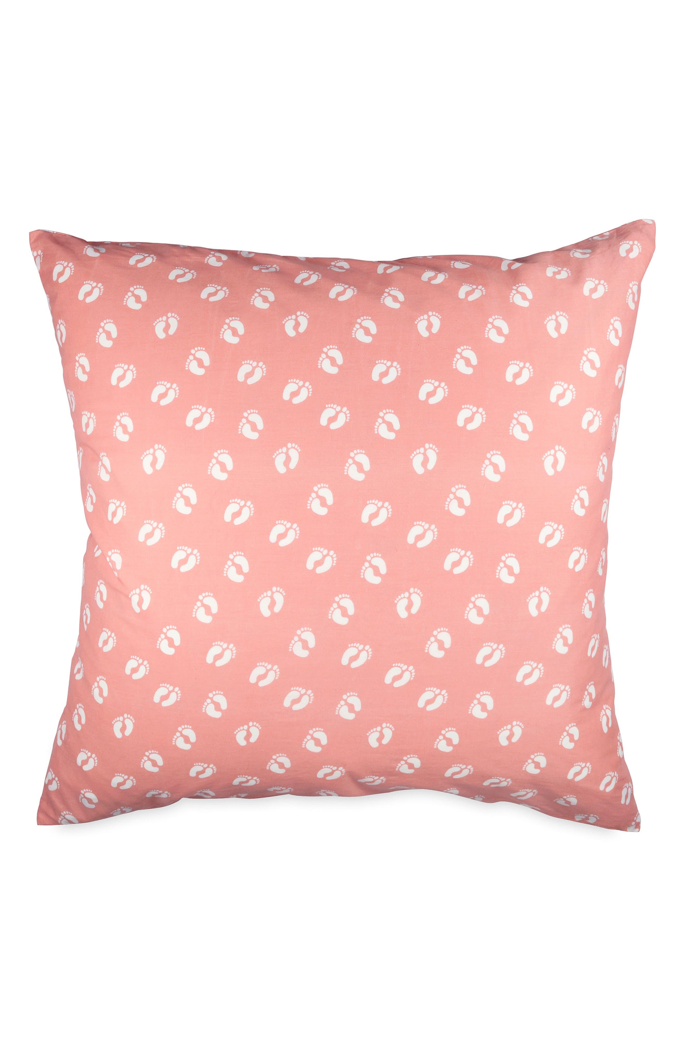 Throw Pillow,                             Main thumbnail 1, color,                             Coral