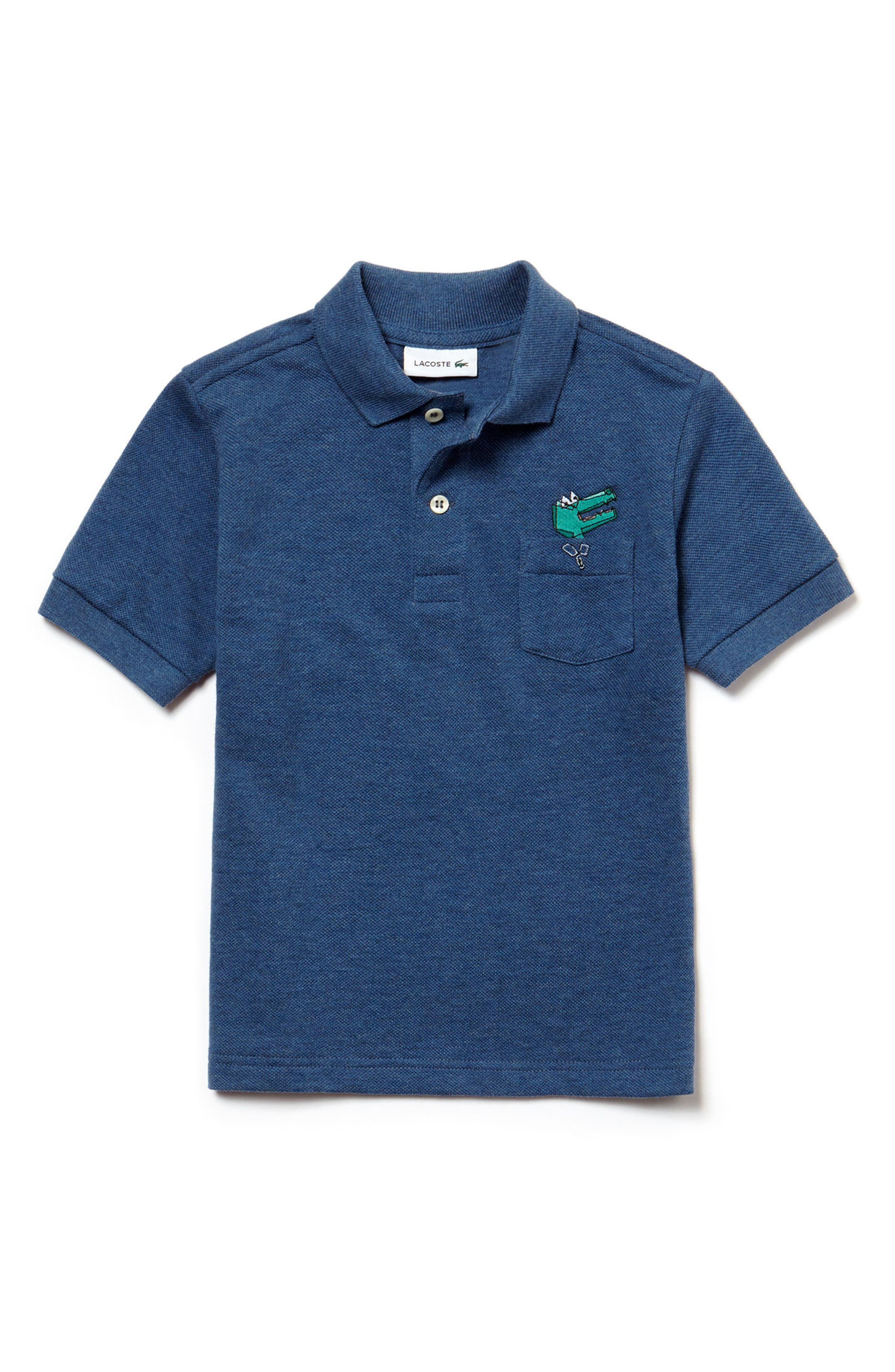 Crocoline Croc Polo,                             Main thumbnail 1, color,                             Elysee Chine