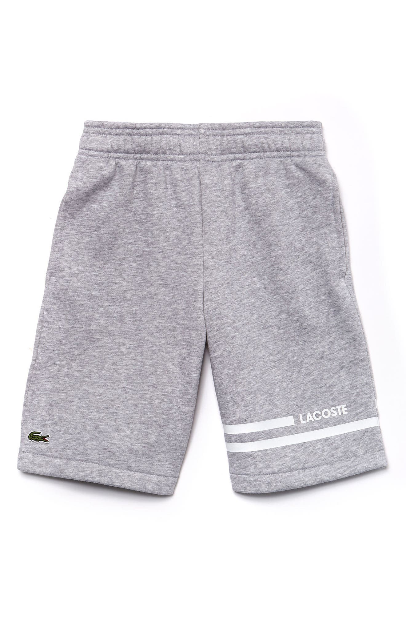 Sport Knit Shorts,                         Main,                         color, Silver Chine/ White