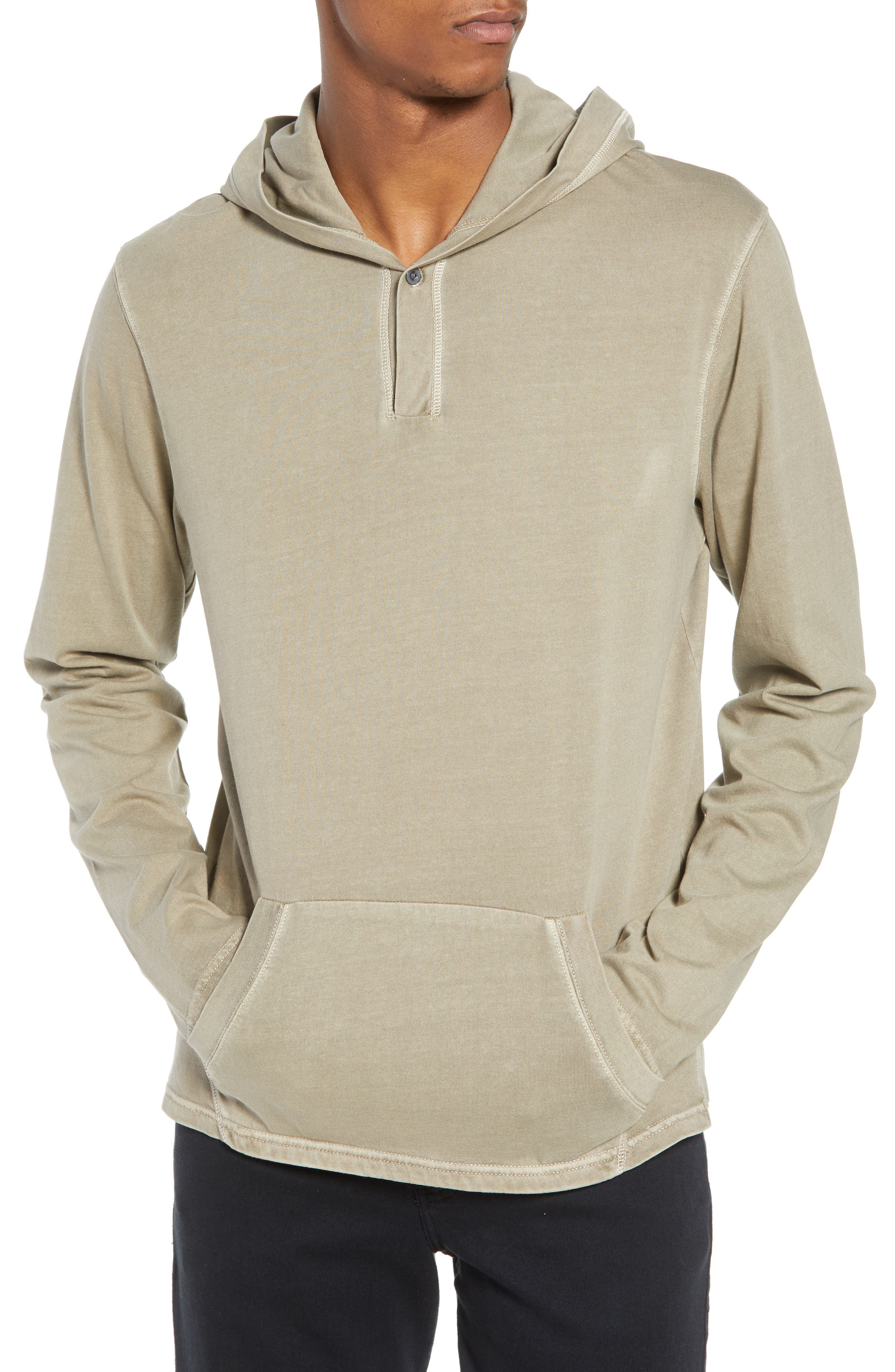 Sunfaded Jersey Hoodie,                         Main,                         color, Tan Aluminum