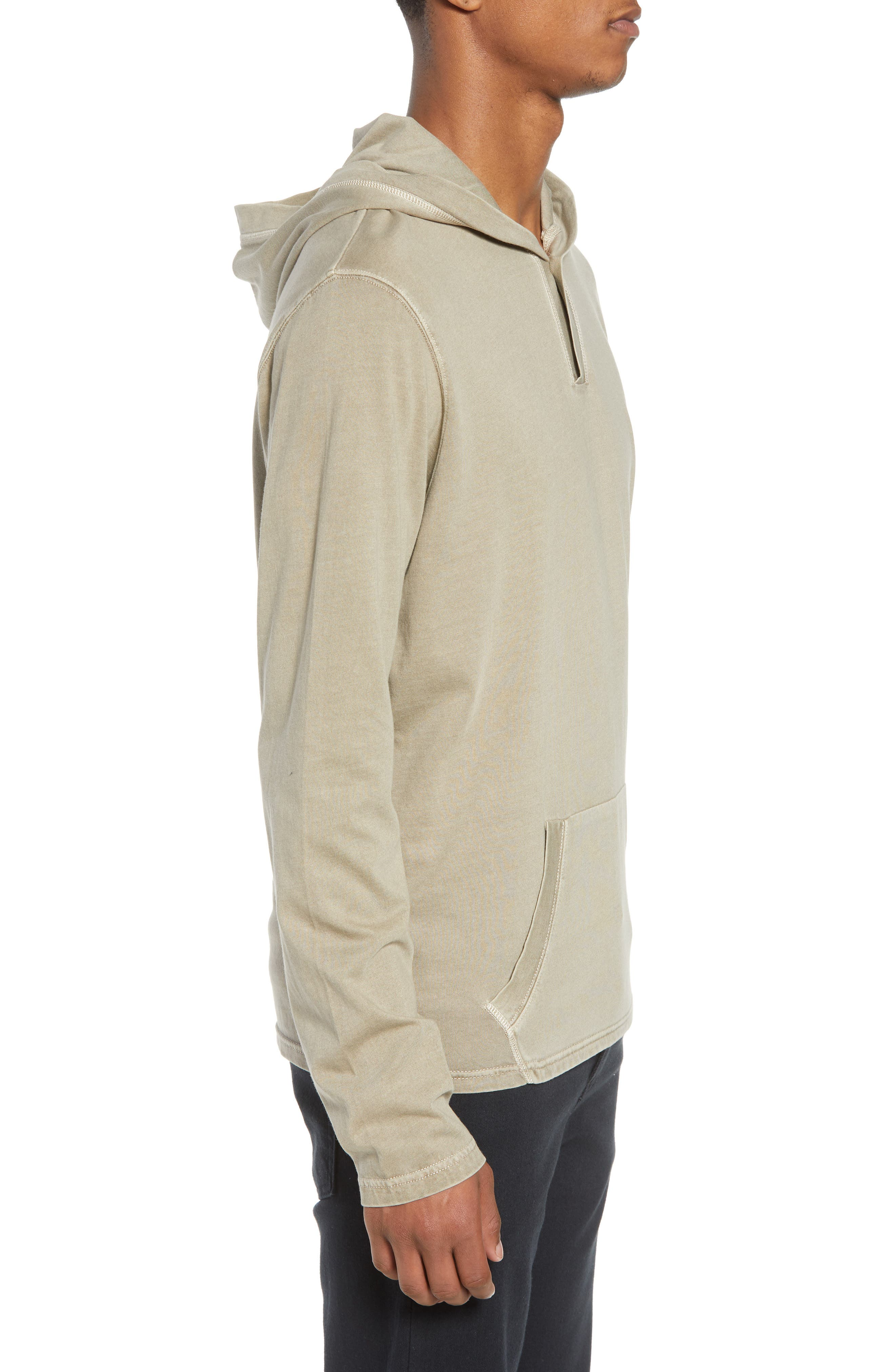 Sunfaded Jersey Hoodie,                             Alternate thumbnail 3, color,                             Tan Aluminum