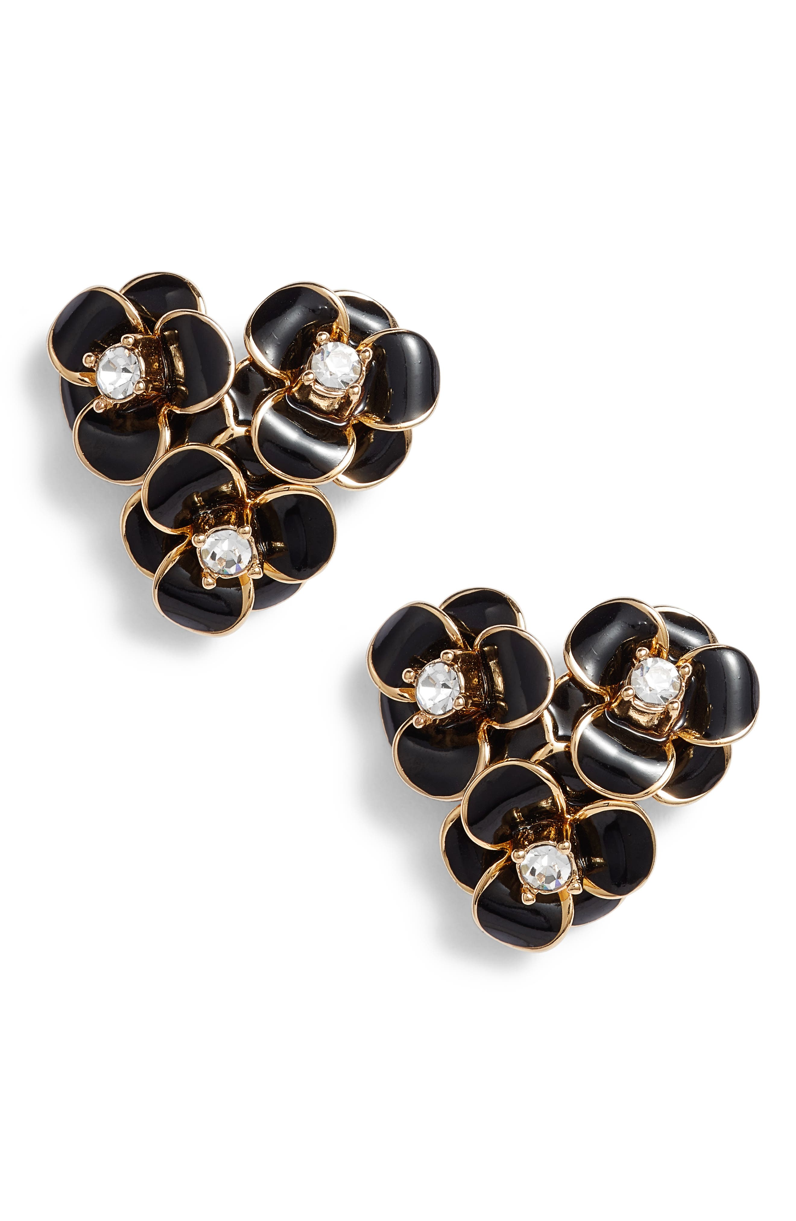 New Kate Spade Shine On Flower Cluster Crystal Stud Earrings Gold $58