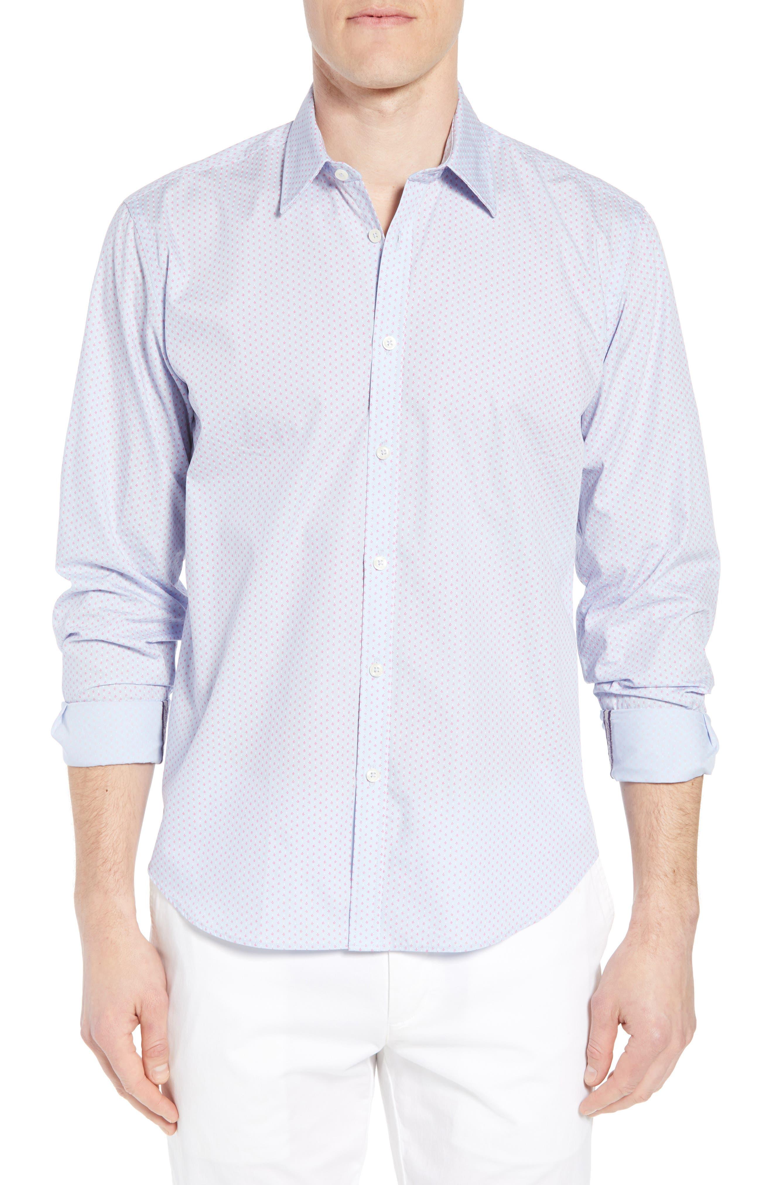 Jeremy Argyle Comfort Fit Print Sport Shirt
