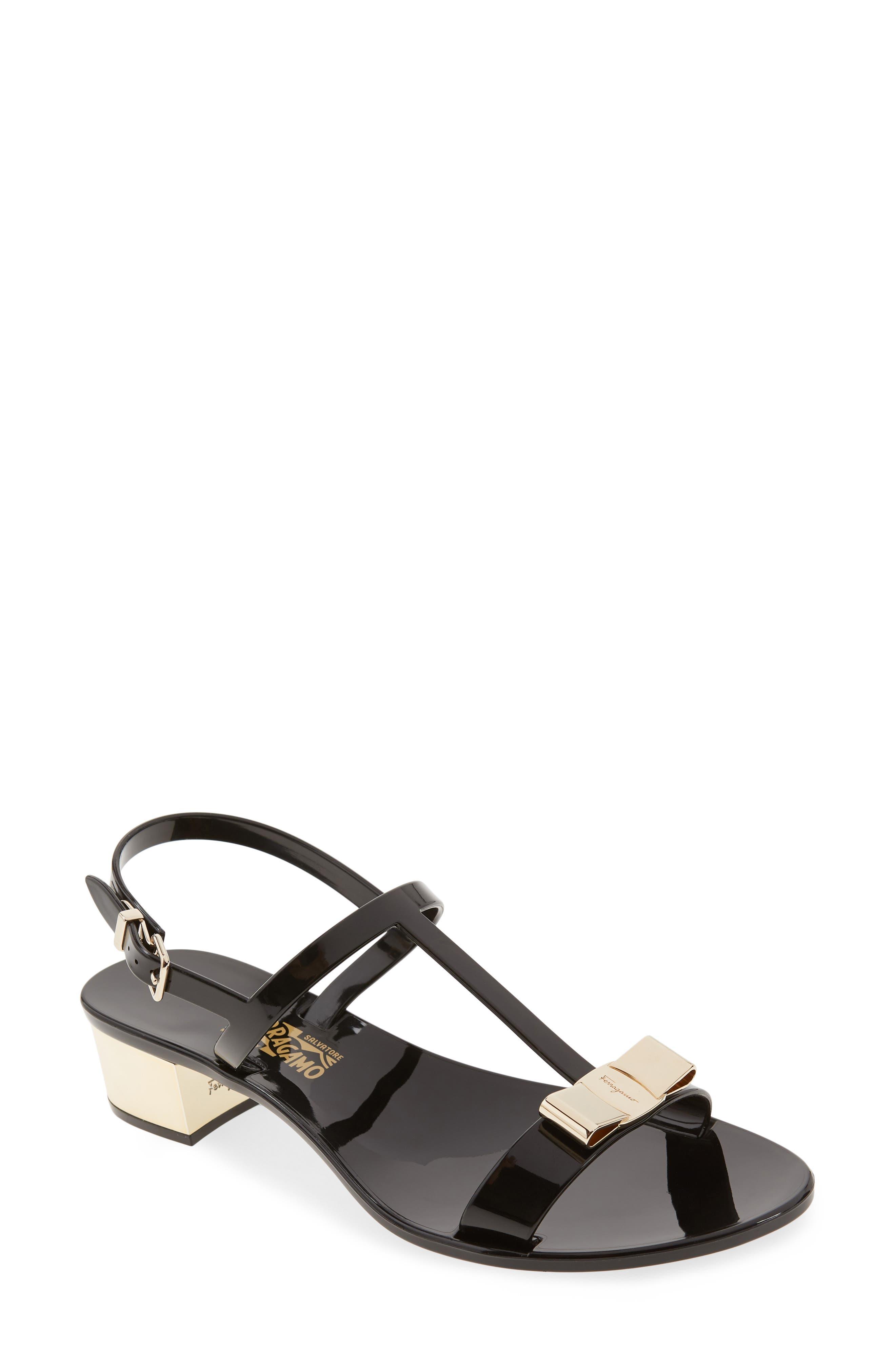 Favilia Jelly Sandal,                         Main,                         color, Black