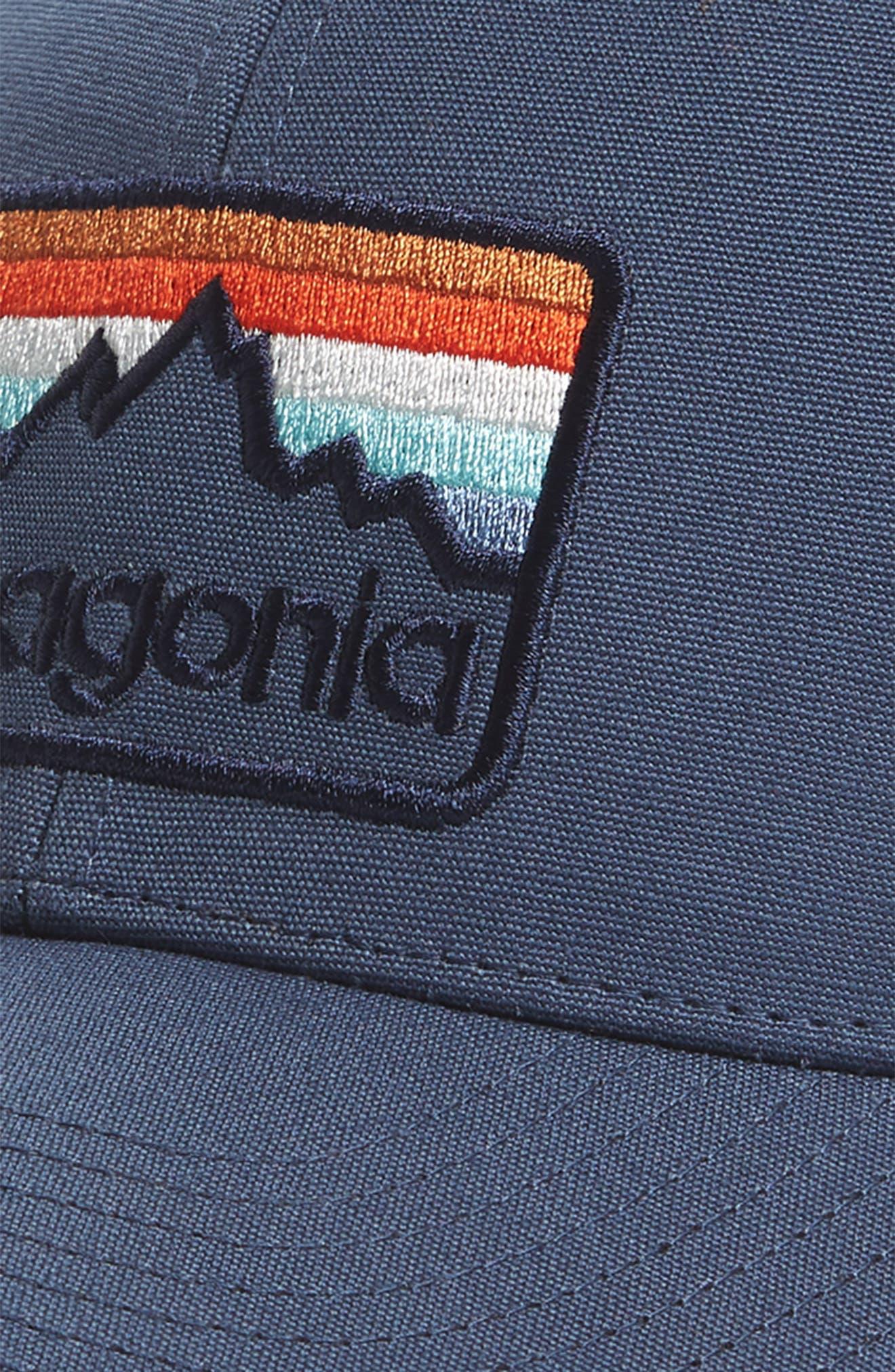 Logo Badge Trucker Hat,                             Alternate thumbnail 3, color,                             Dolomite Blue