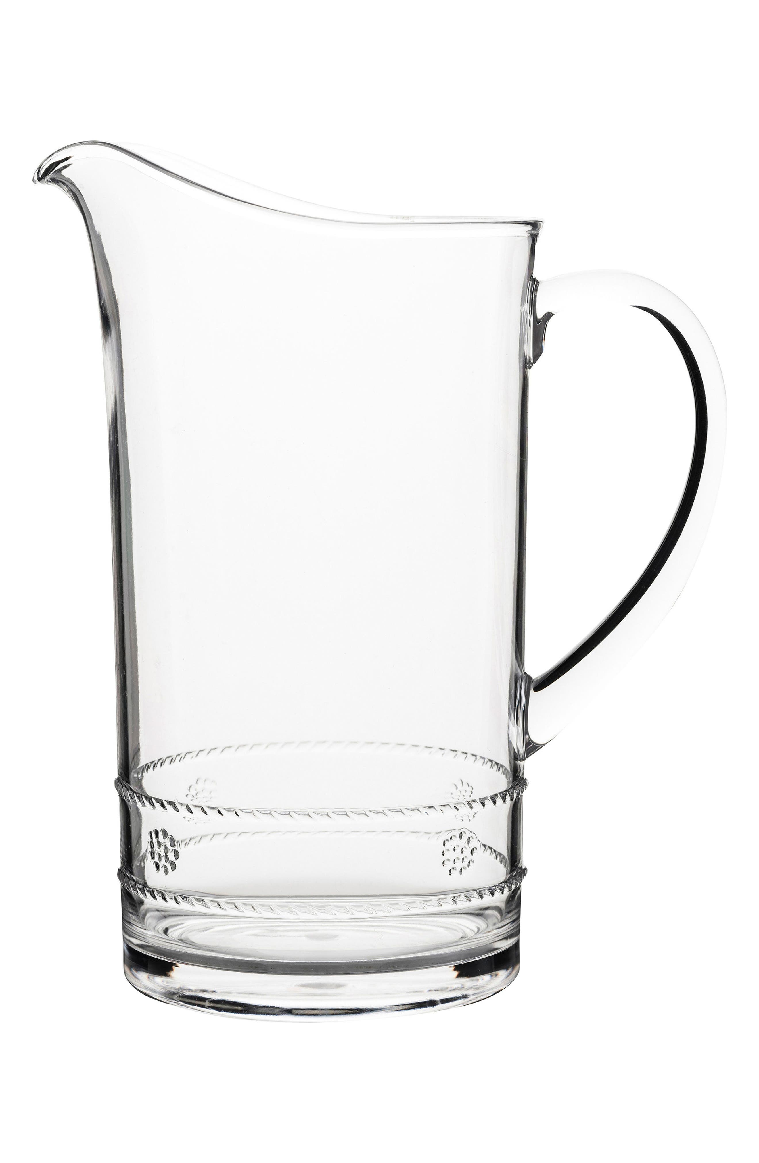 Isabella Acrylic Pitcher,                             Main thumbnail 1, color,                             Clear