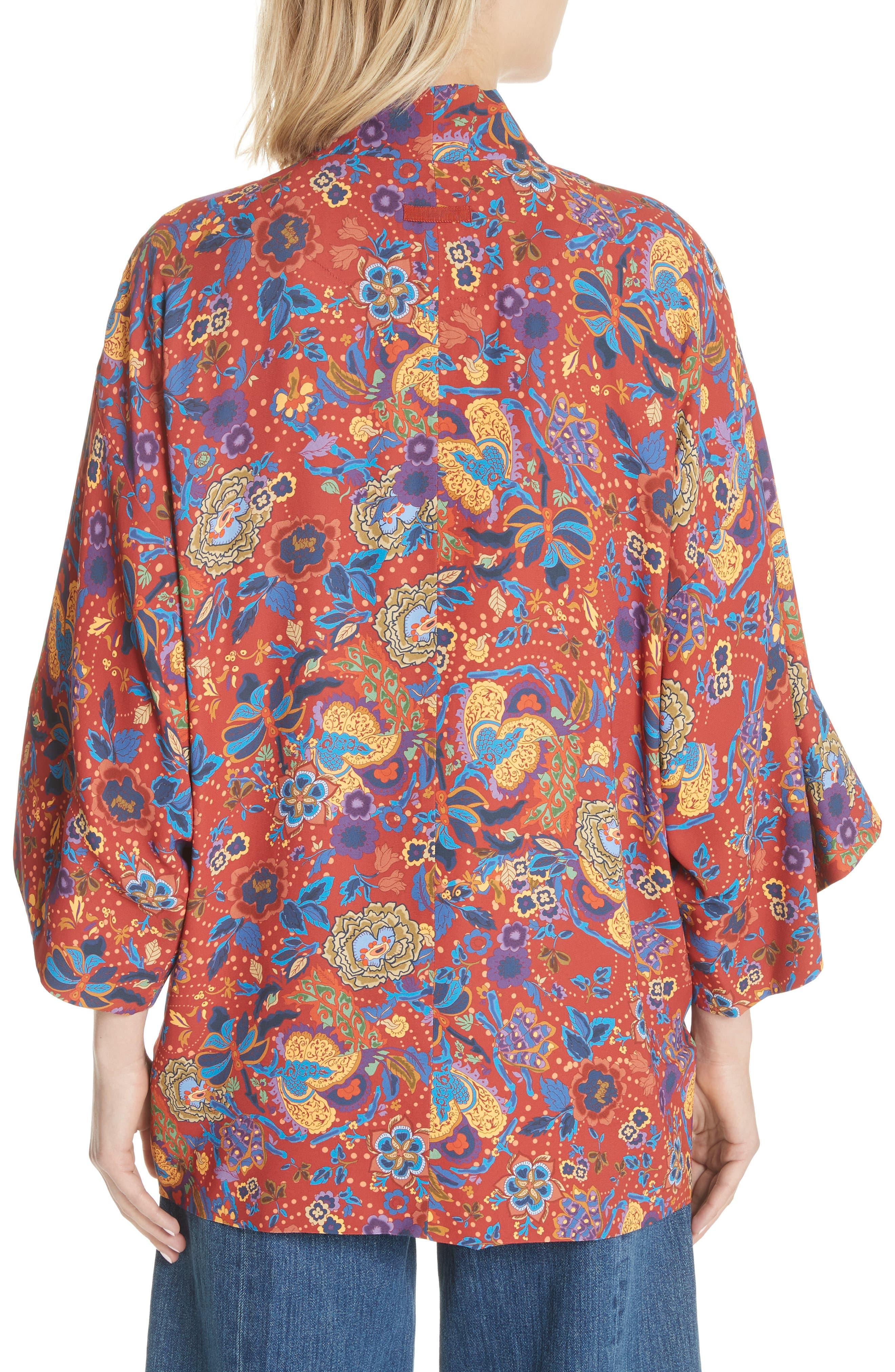 Drew Crop Sleeve Kimono,                             Alternate thumbnail 2, color,                             Tangerine