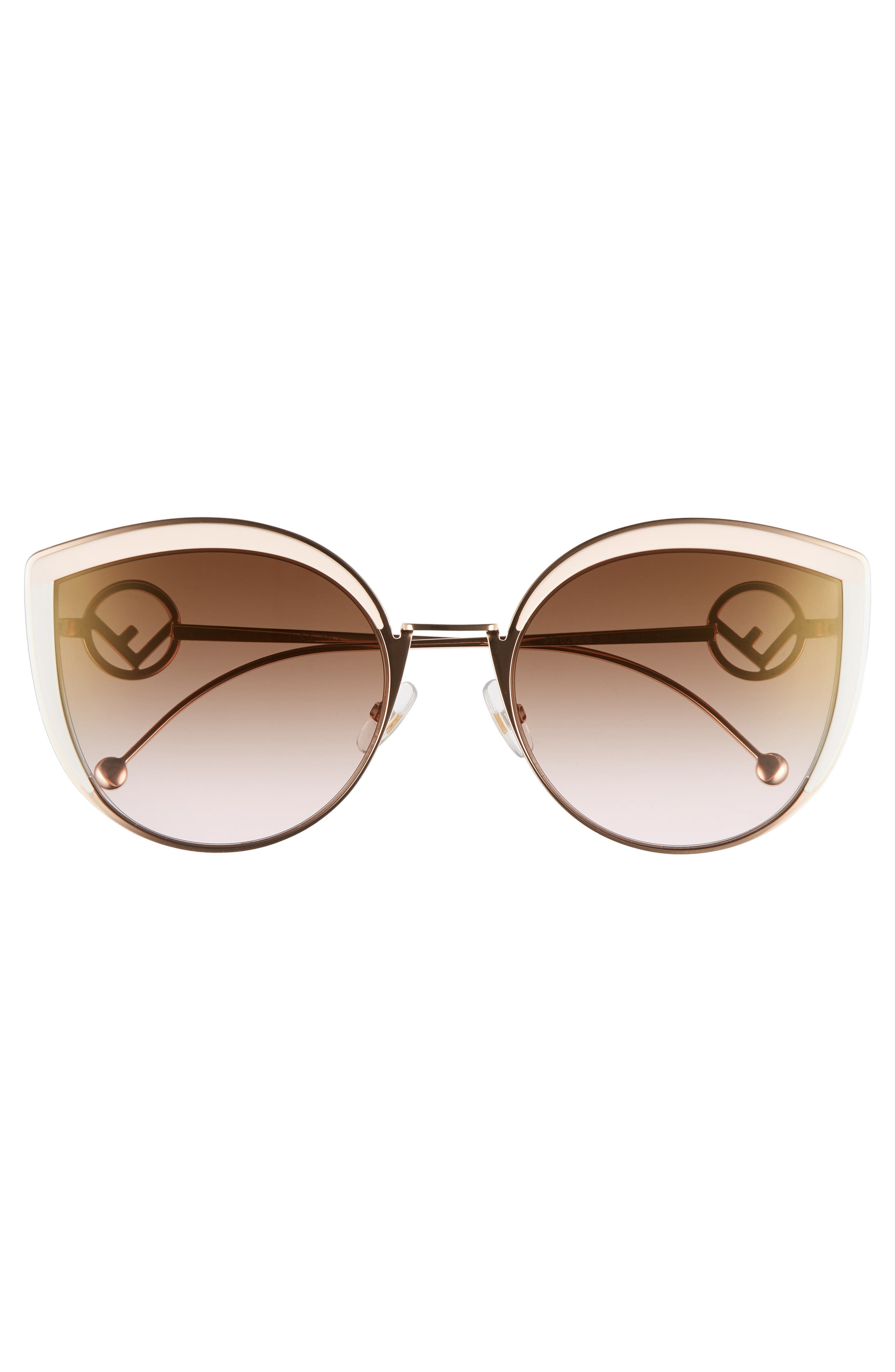 58mm Metal Butterfly Sunglasses,                             Alternate thumbnail 3, color,                             Pink