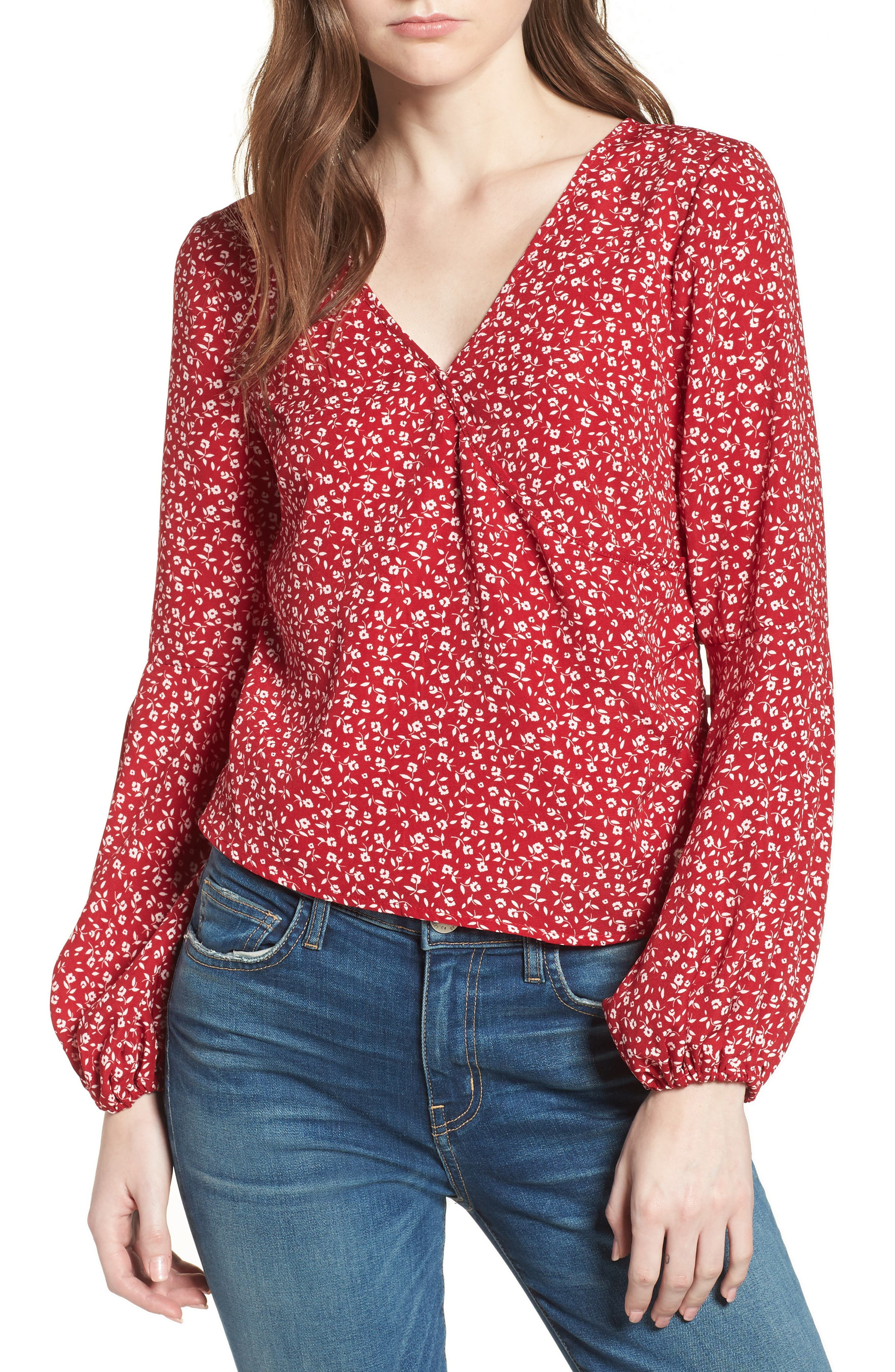 Alternate Image 1 Selected - Leith Surplice Blouse