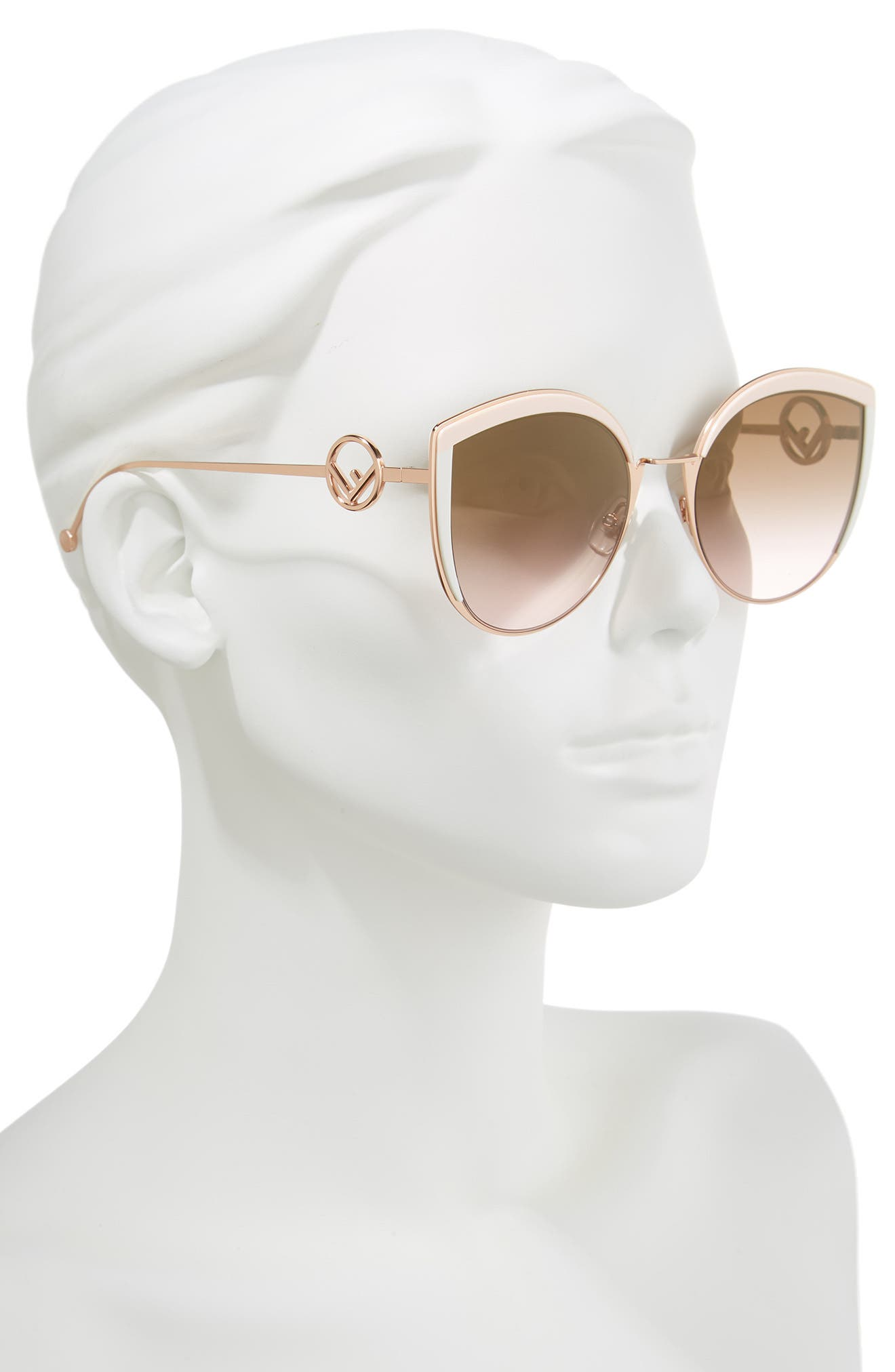 58mm Metal Butterfly Sunglasses,                             Alternate thumbnail 2, color,                             Pink