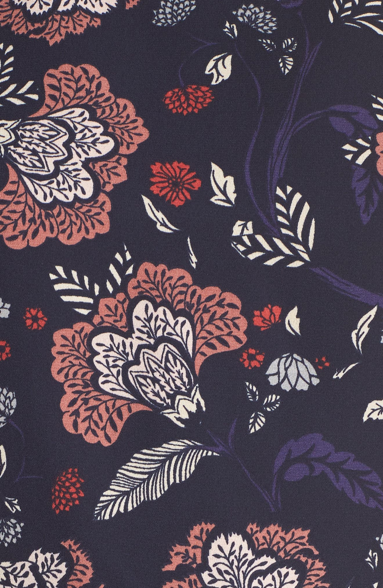 Cassidy Floral Minidress,                             Alternate thumbnail 6, color,                             Navy