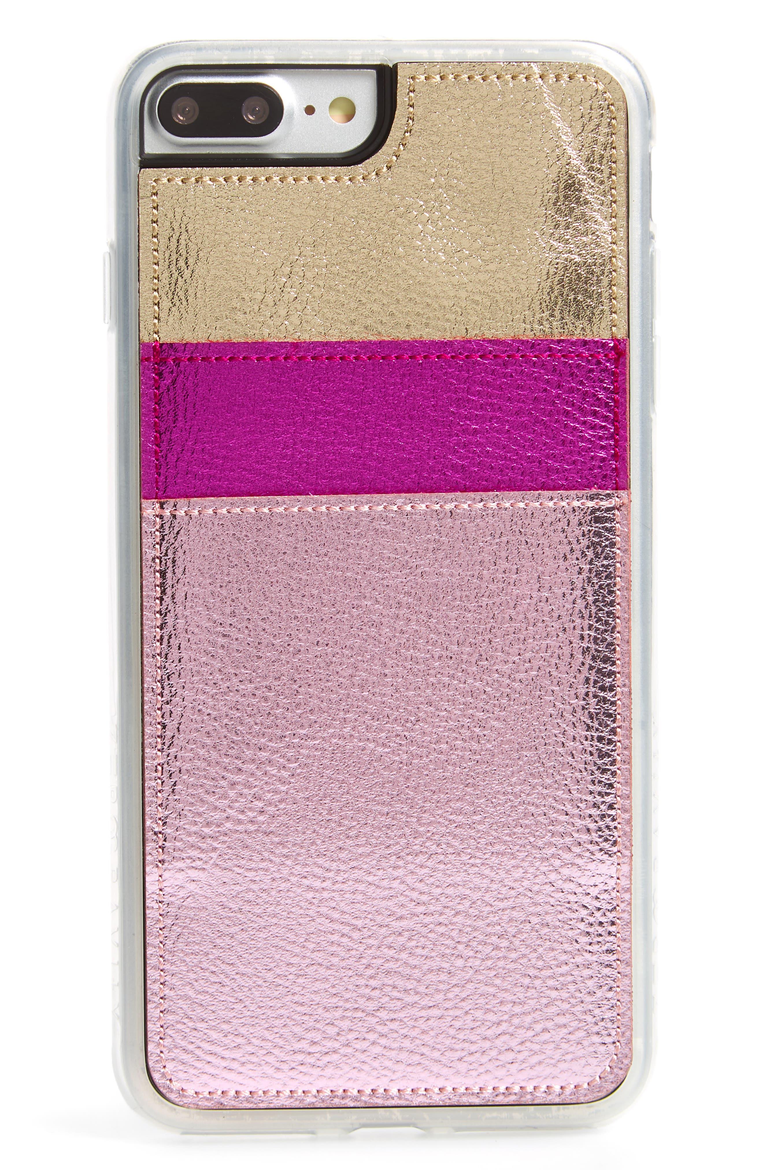 Strut iPhone 7/8 & 7/8 Plus Wallet,                             Main thumbnail 1, color,                             Pink