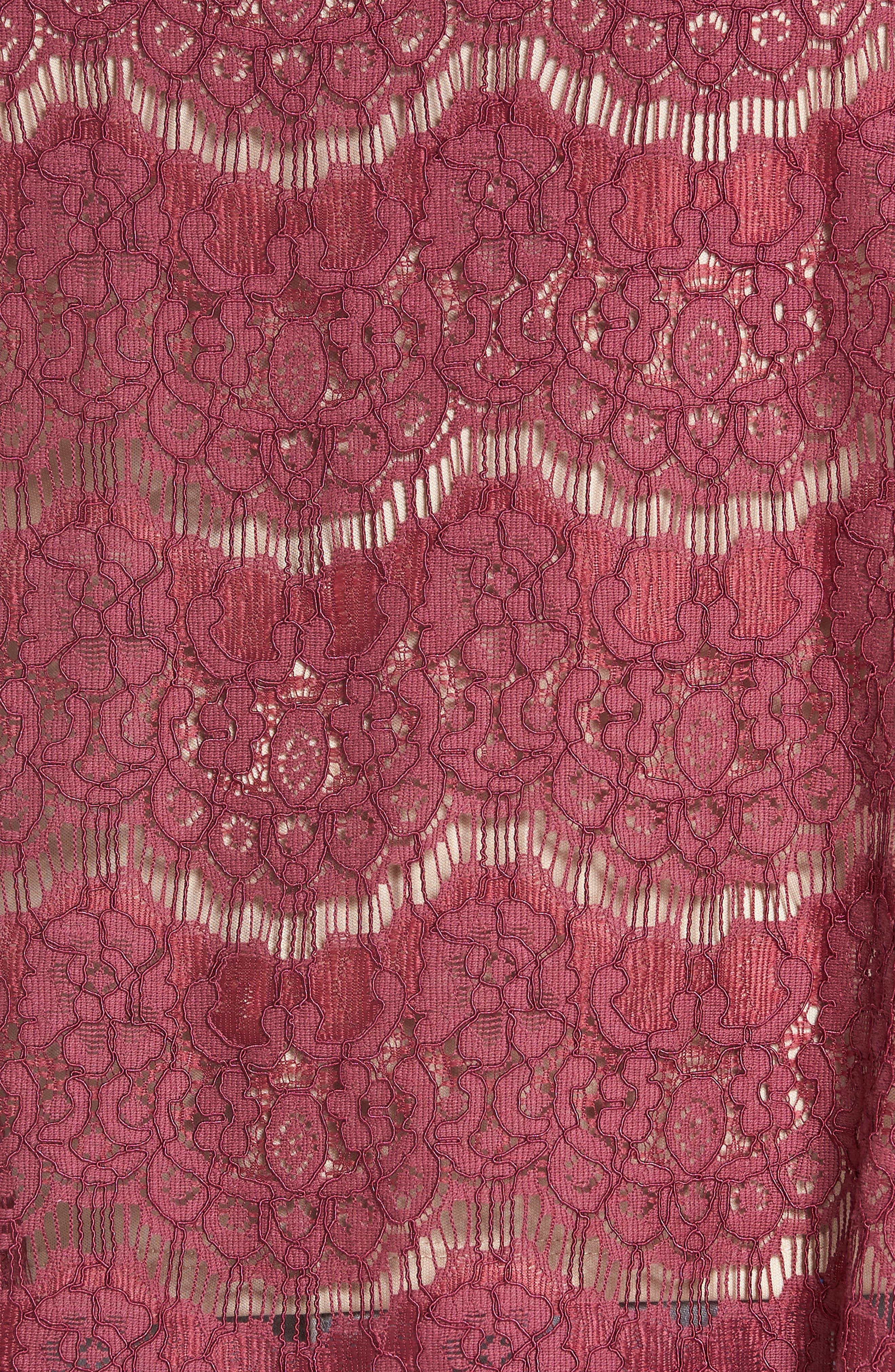 Lace Top,                             Alternate thumbnail 5, color,                             Hawthorn Rose