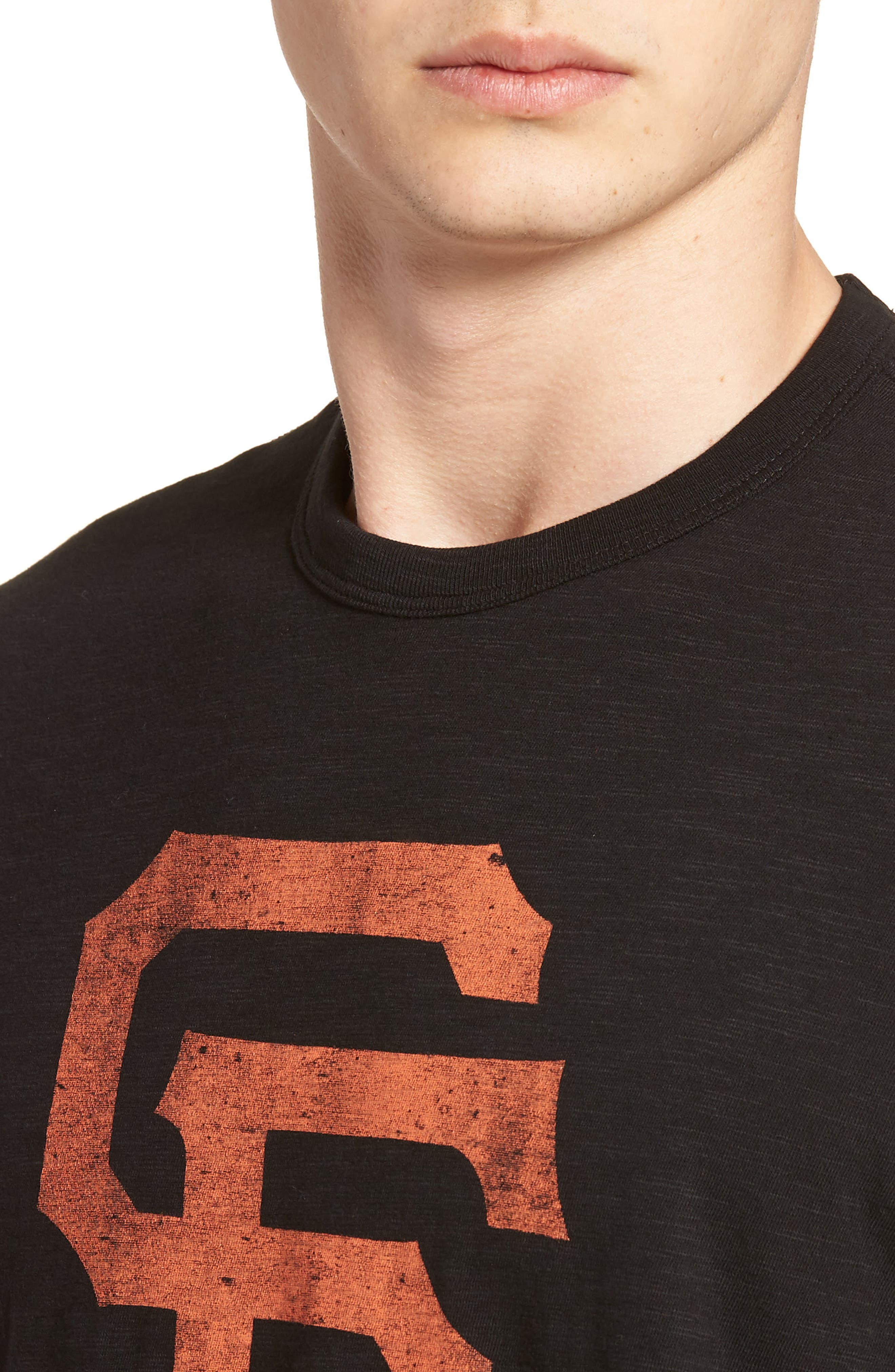 Grit Scrum San Francisco Giants T-Shirt,                             Alternate thumbnail 4, color,                             Jet Black