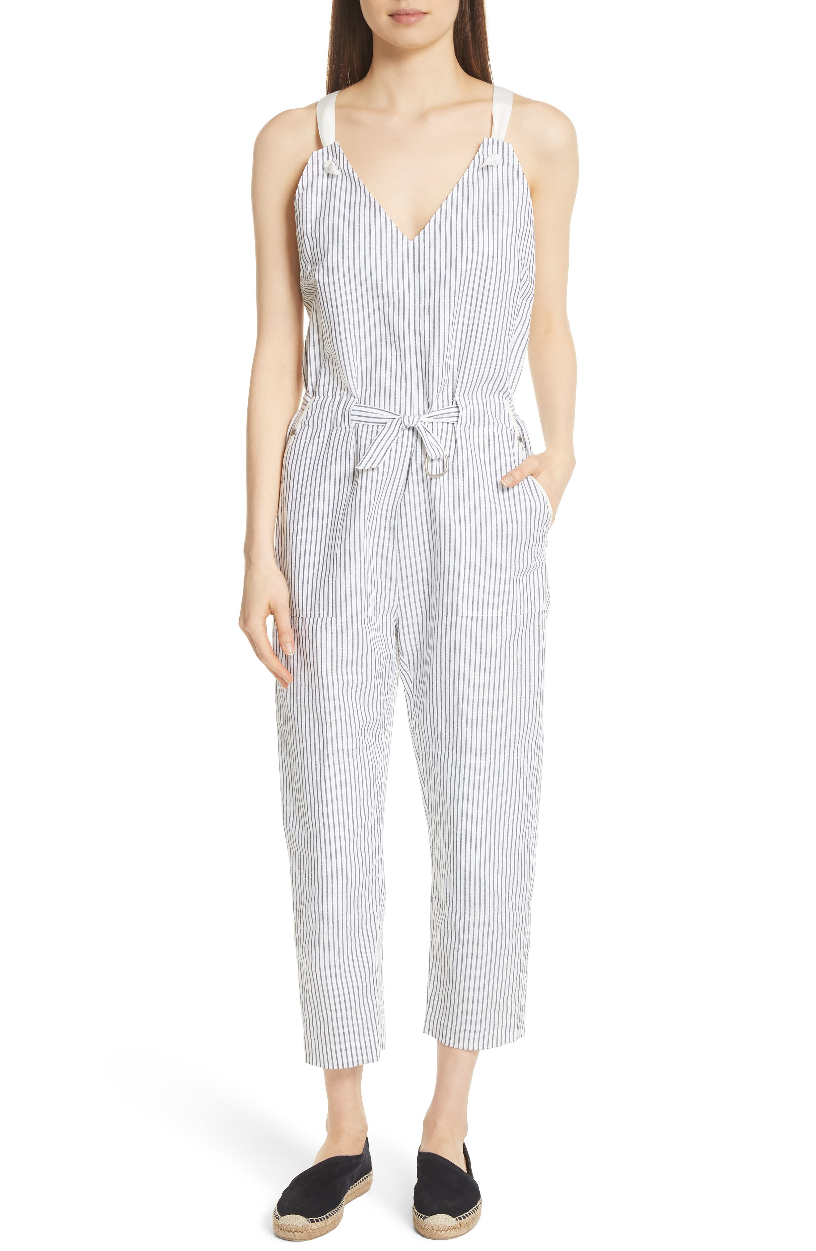 rag & bone Ellen Stripe Jumpsuit