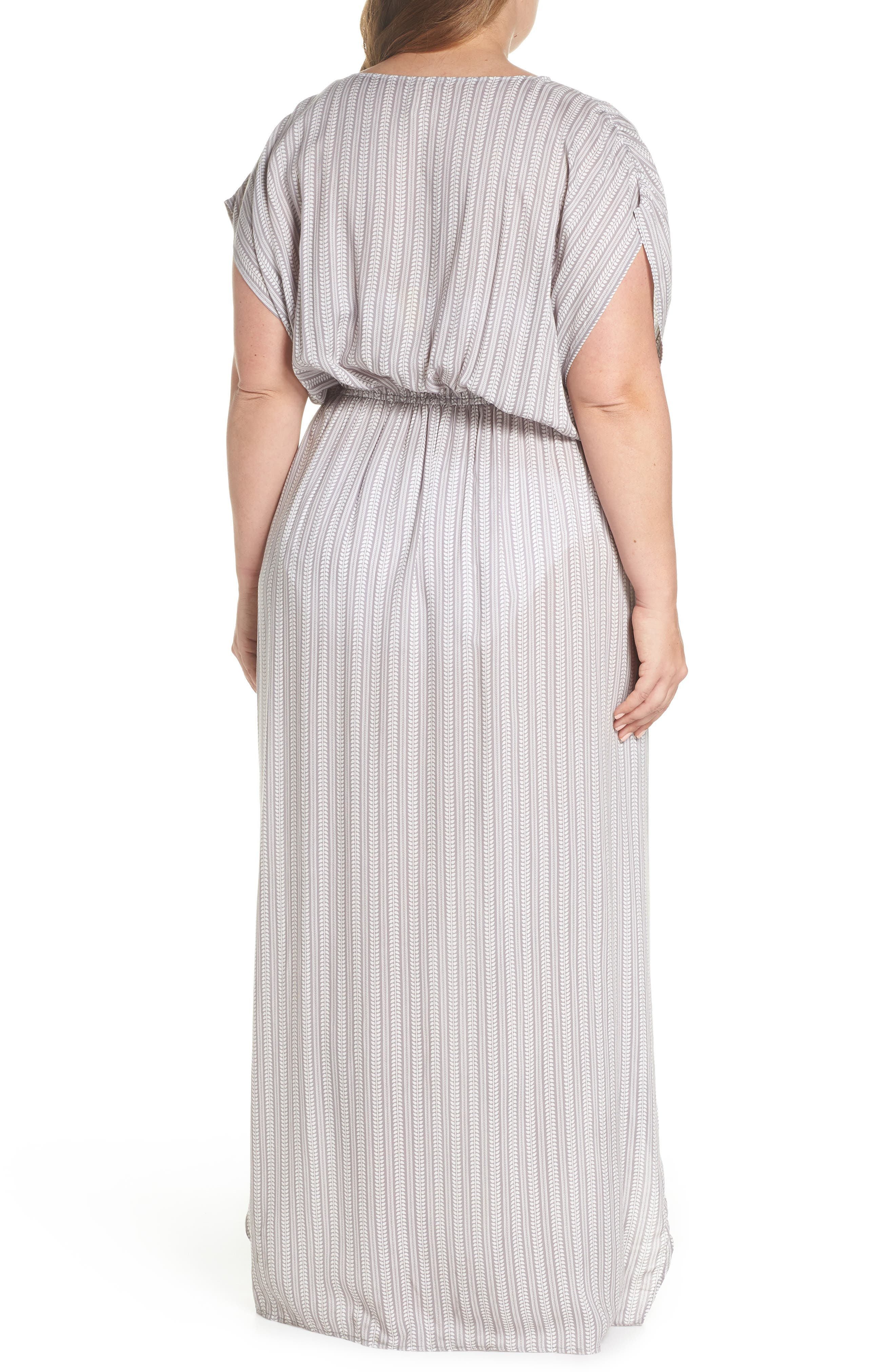 Wrap Maxi Cover-Up Dress,                             Alternate thumbnail 2, color,                             Makoto Grey