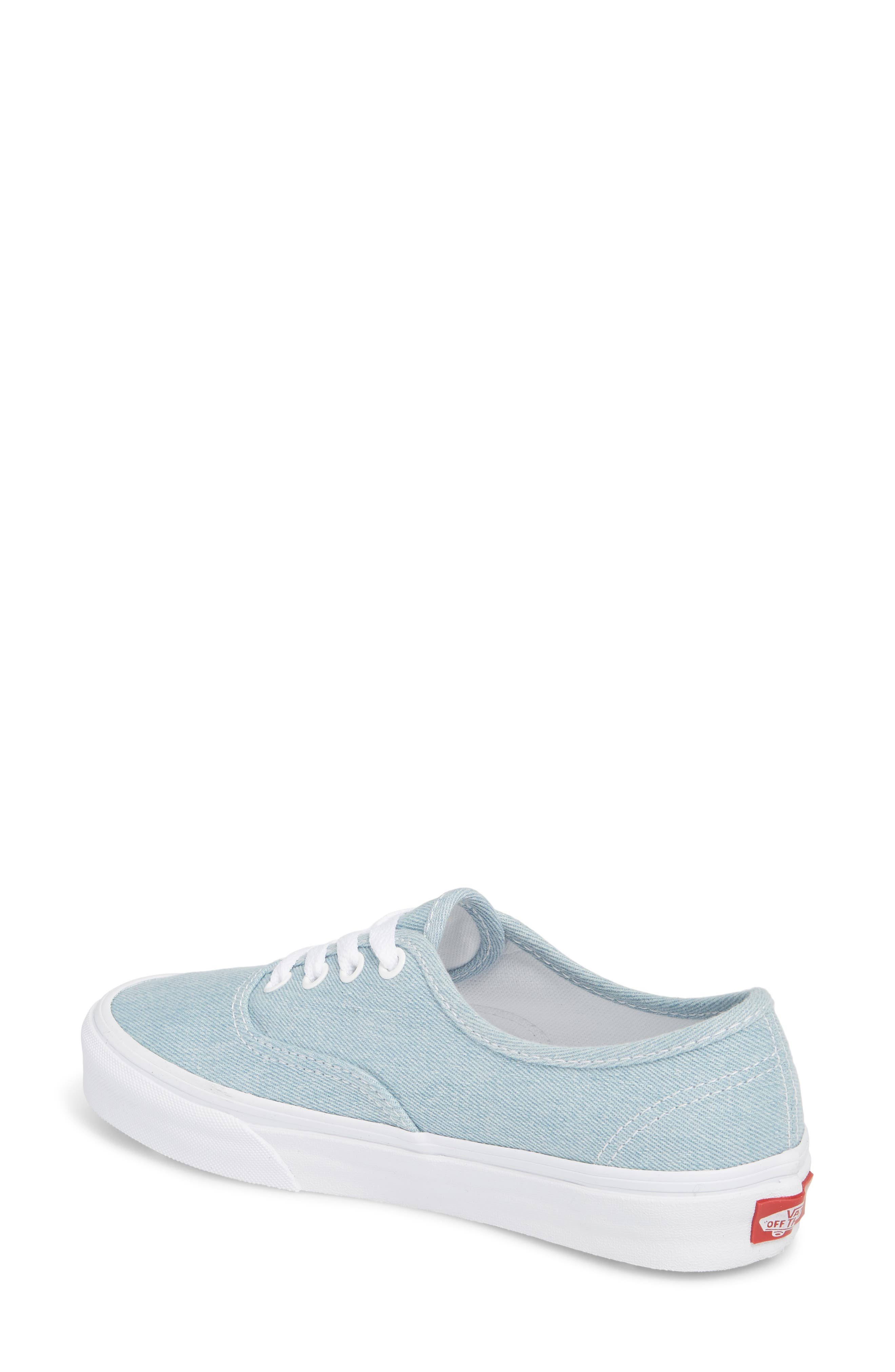 'Authentic' Sneaker,                             Alternate thumbnail 2, color,                             Denim Baby Blue