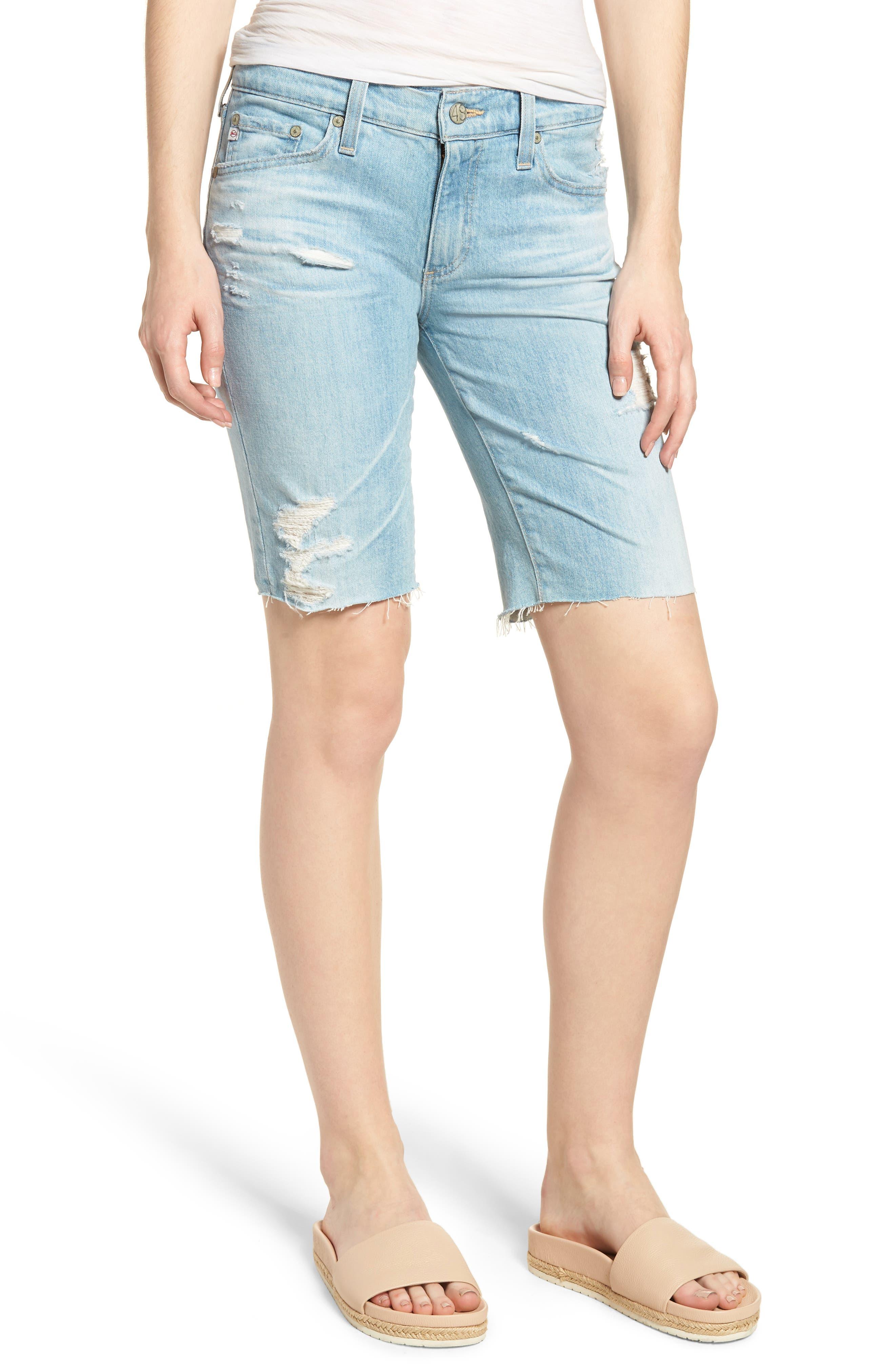 Nikki Denim Shorts,                         Main,                         color, 23 Years Cerulean Chase