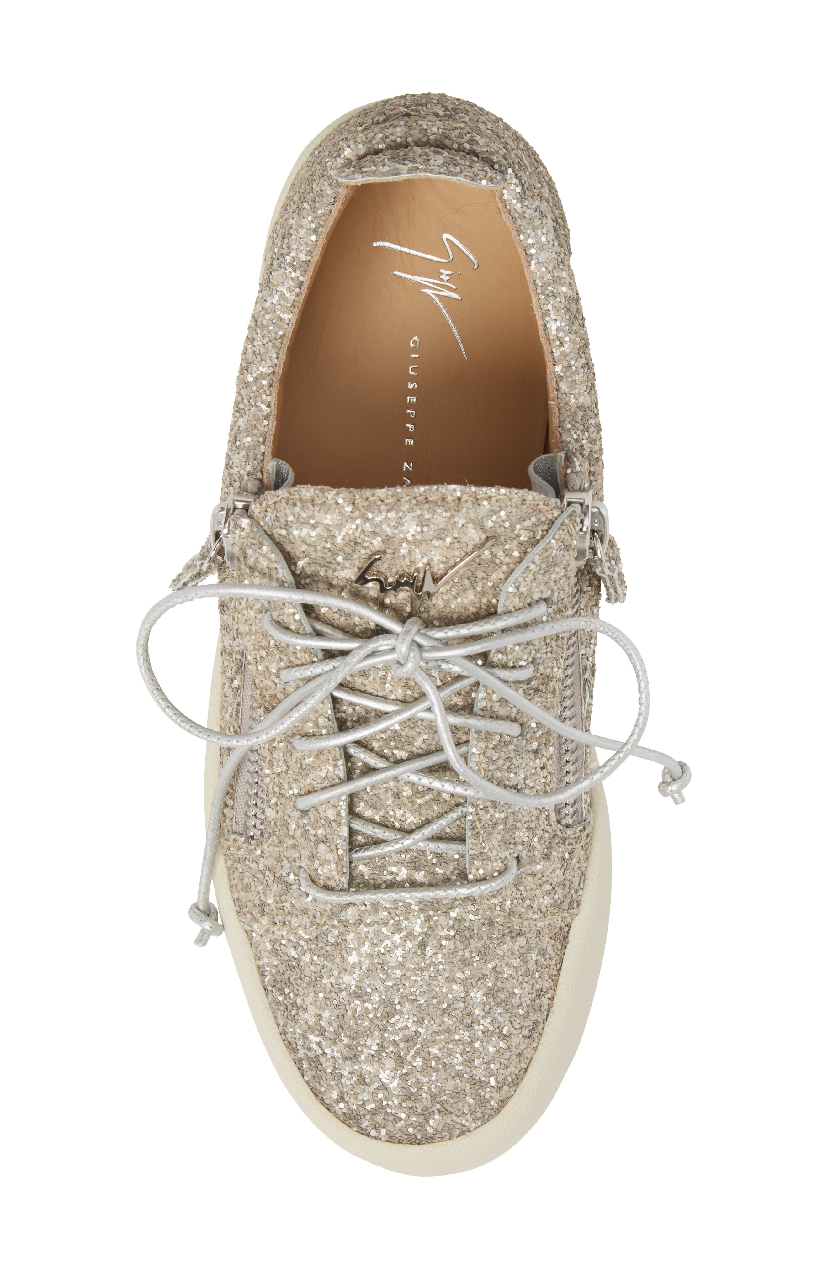 May London Low Top Sneaker,                             Alternate thumbnail 5, color,                             Champagne