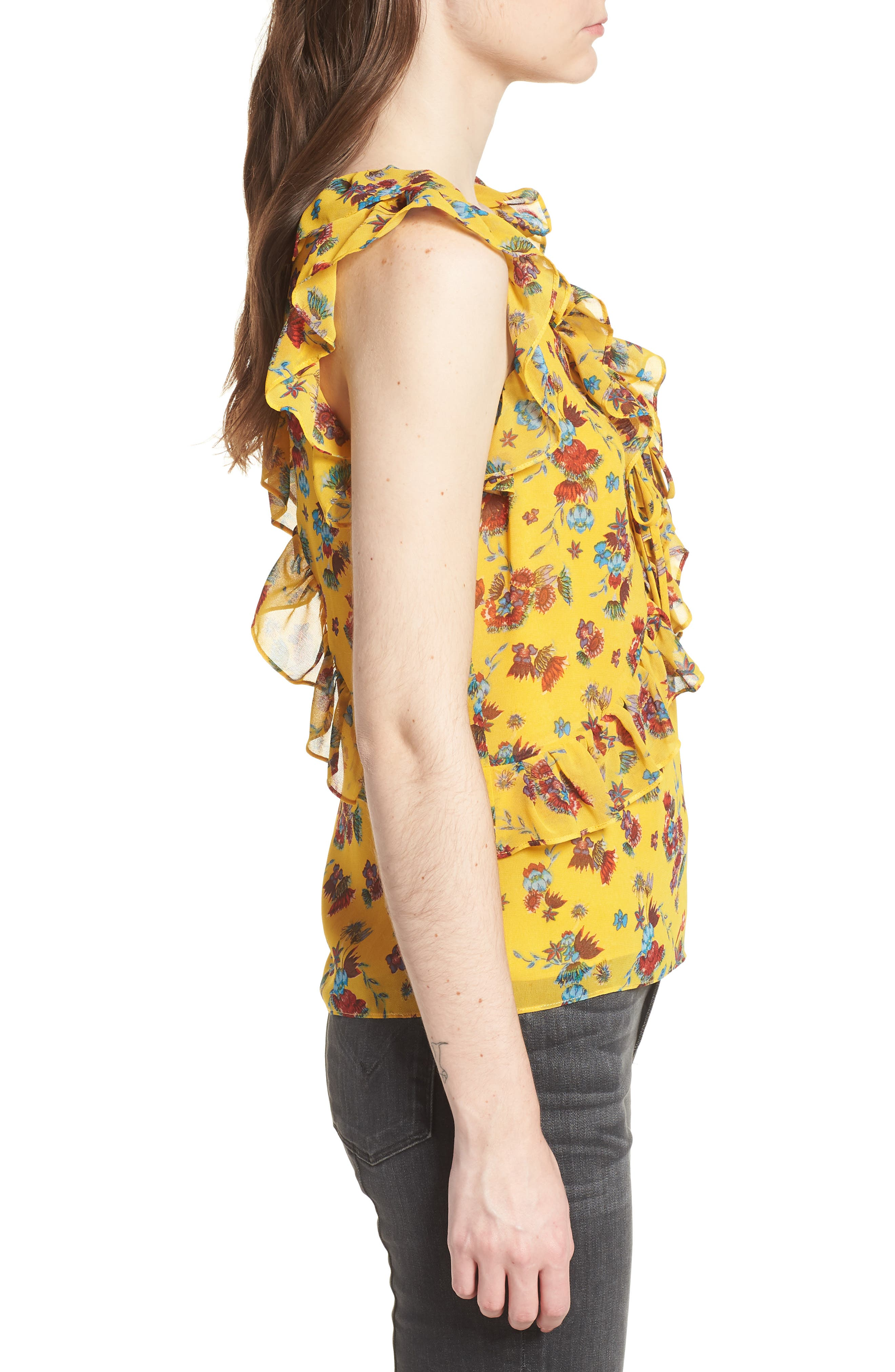 Daisy Top,                             Alternate thumbnail 3, color,                             Yellow Multi