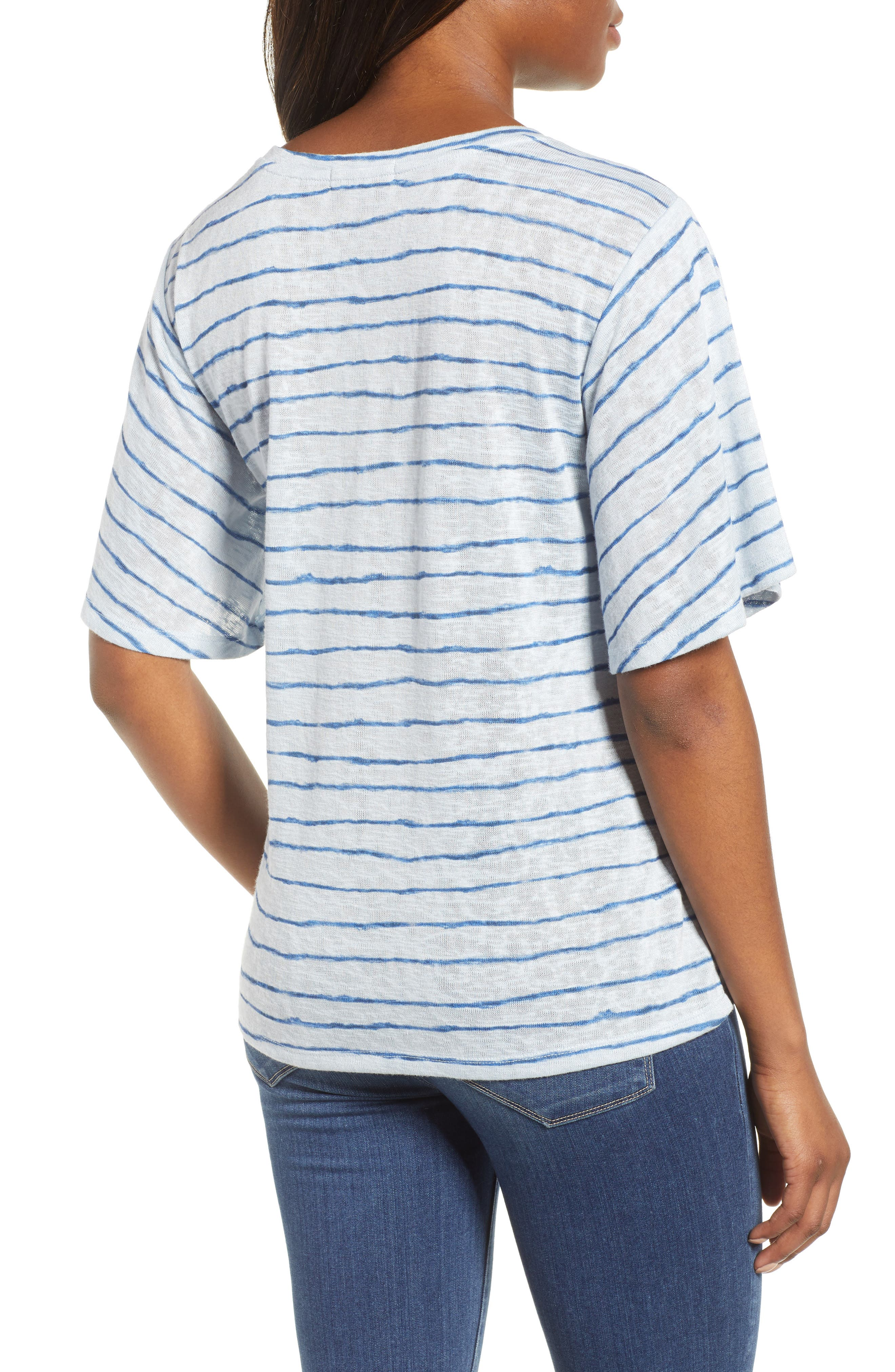 Ruched Side Ribbon Tee,                             Alternate thumbnail 2, color,                             Starlight