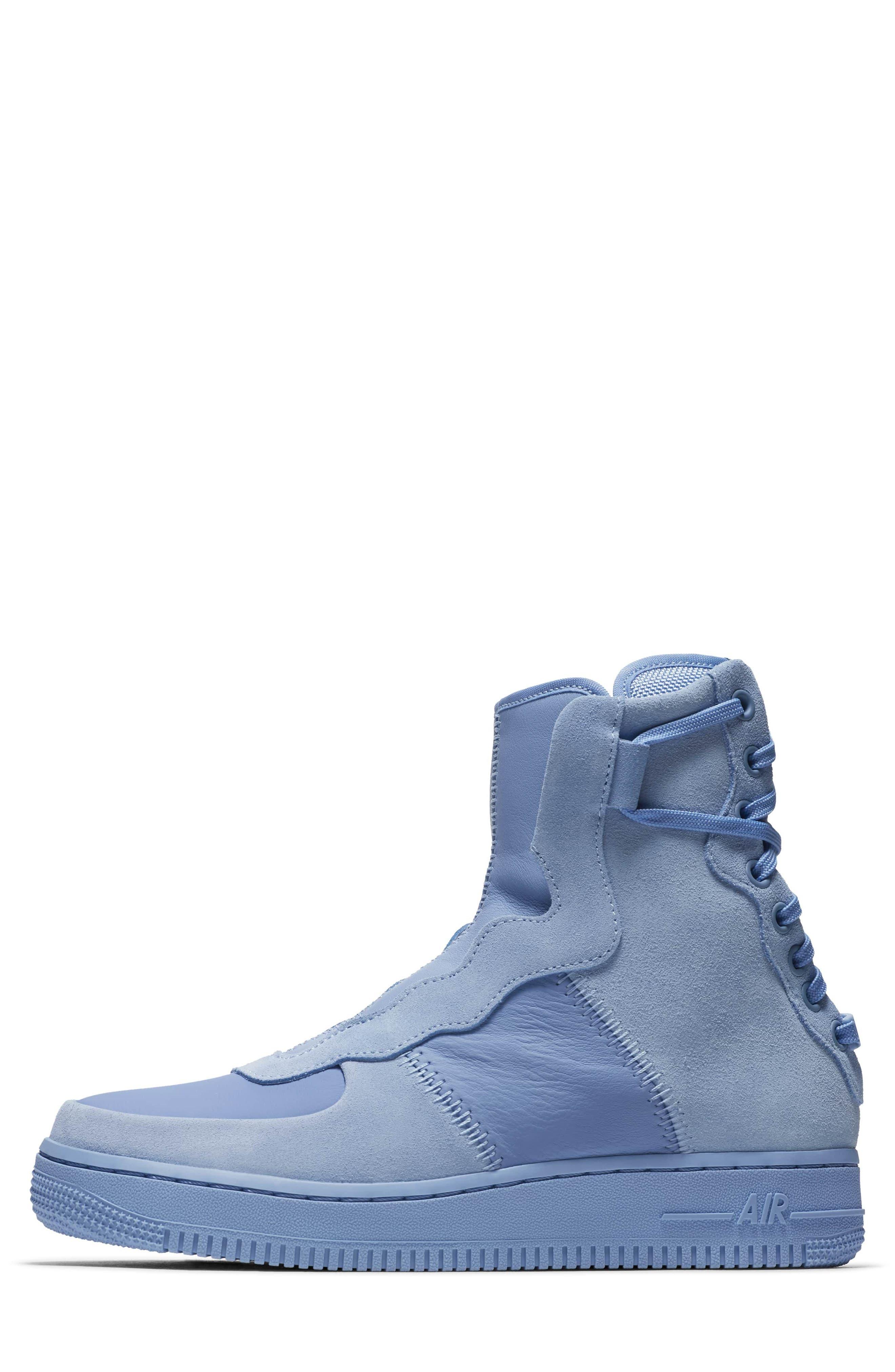 Air Force 1 Rebel XX High Top Sneaker,                             Alternate thumbnail 3, color,                             Light Blue
