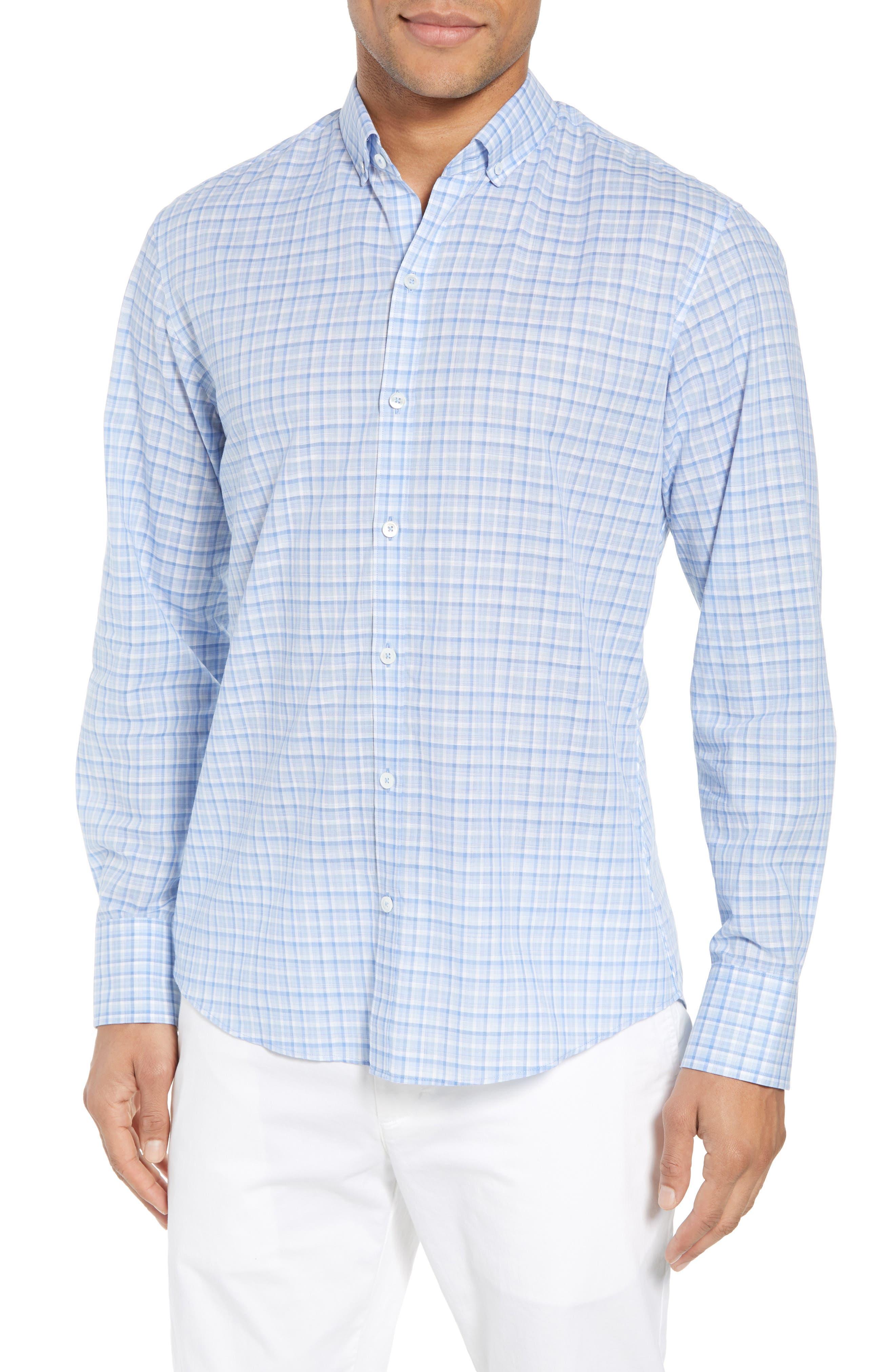 Jian Regular Fit Sport Shirt,                         Main,                         color, Sky
