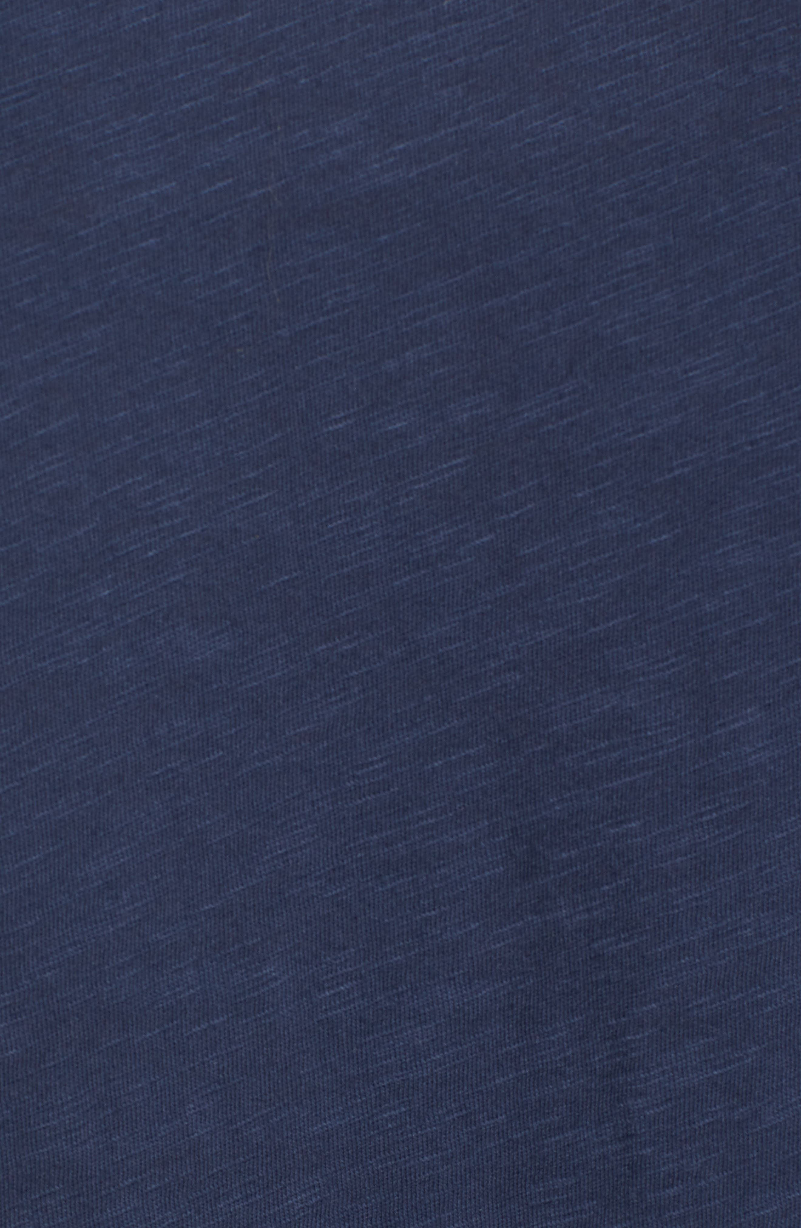 Lightweight Colorblock Cotton Tee,                             Alternate thumbnail 18, color,                             Navy- White