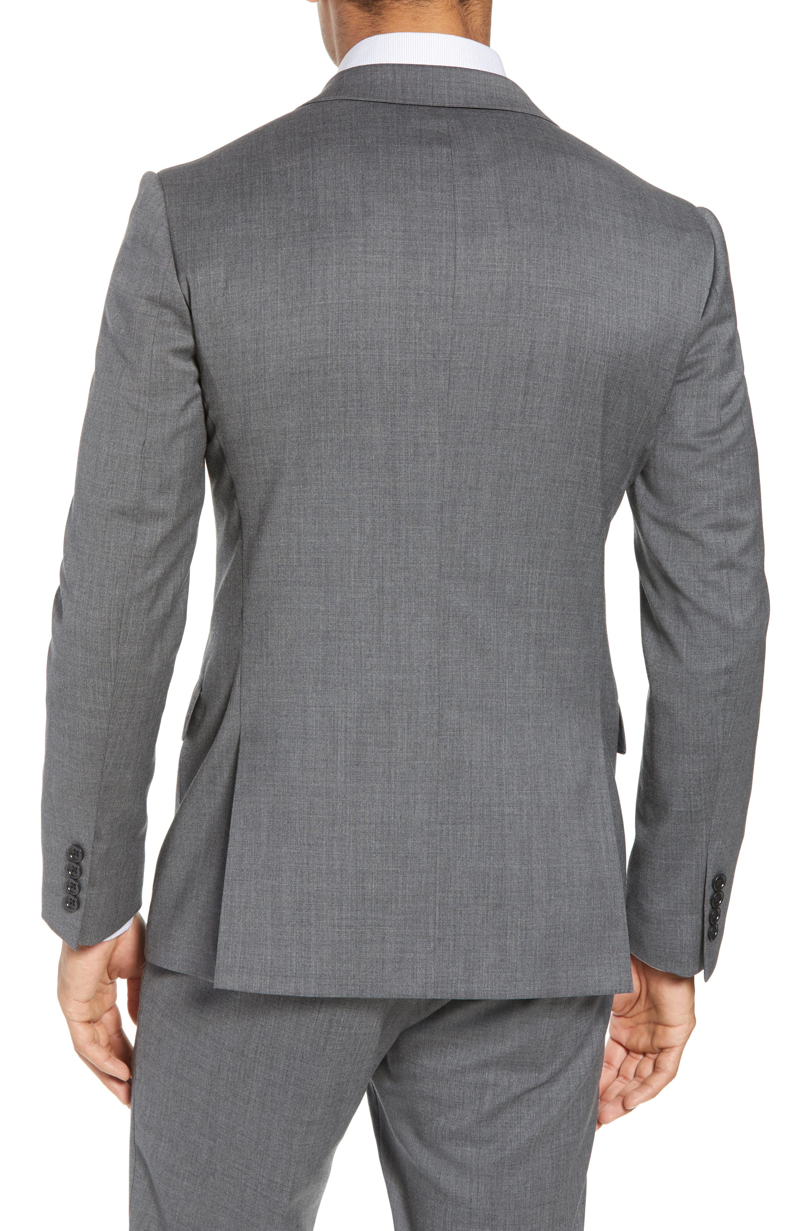 Trim Fit Solid Stretch Wool Sport Coat,                             Alternate thumbnail 2, color,                             Grey