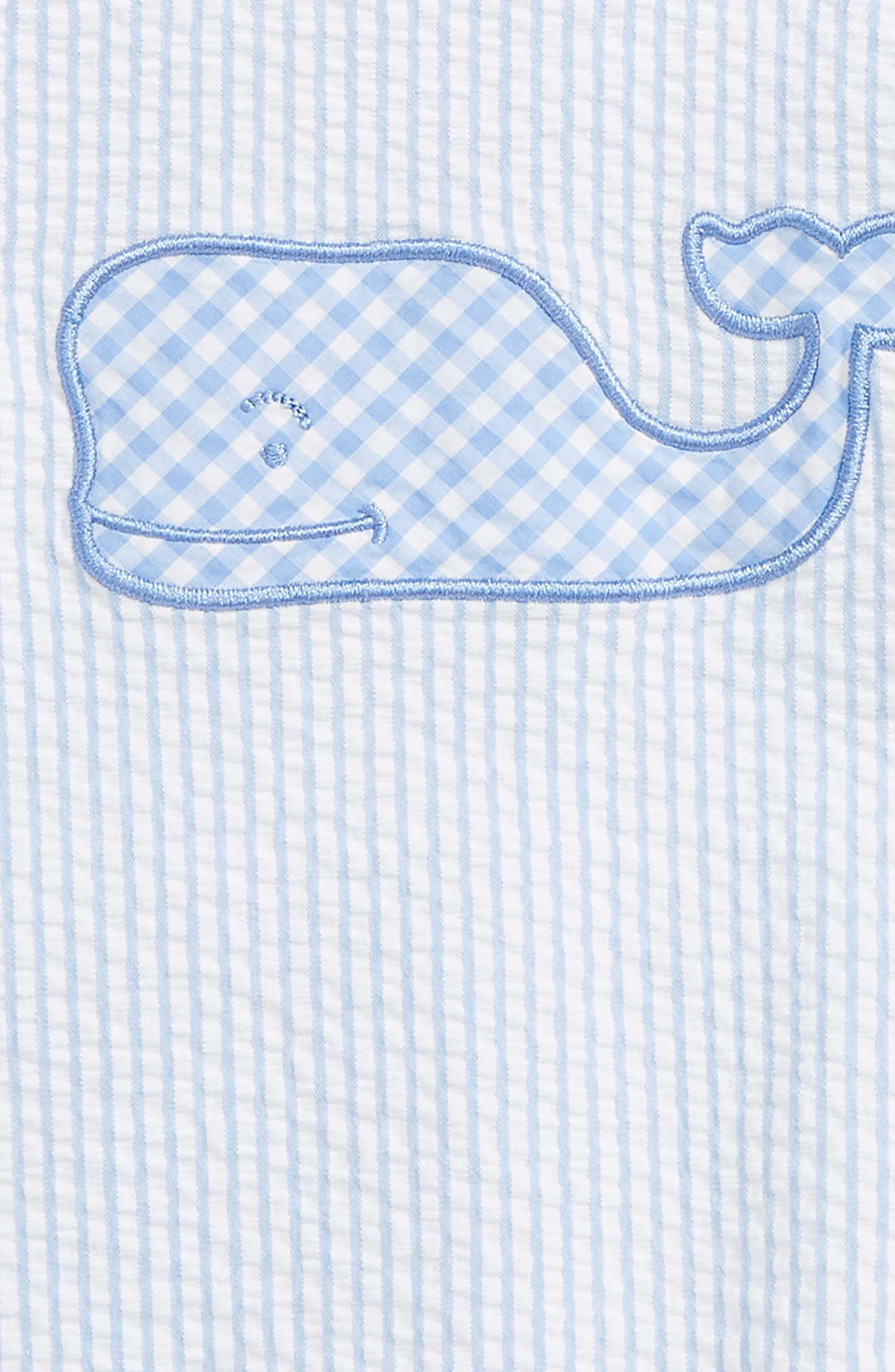 Alternate Image 2  - vineyard vines Seersucker Jon Jon Romper (Baby Boys)