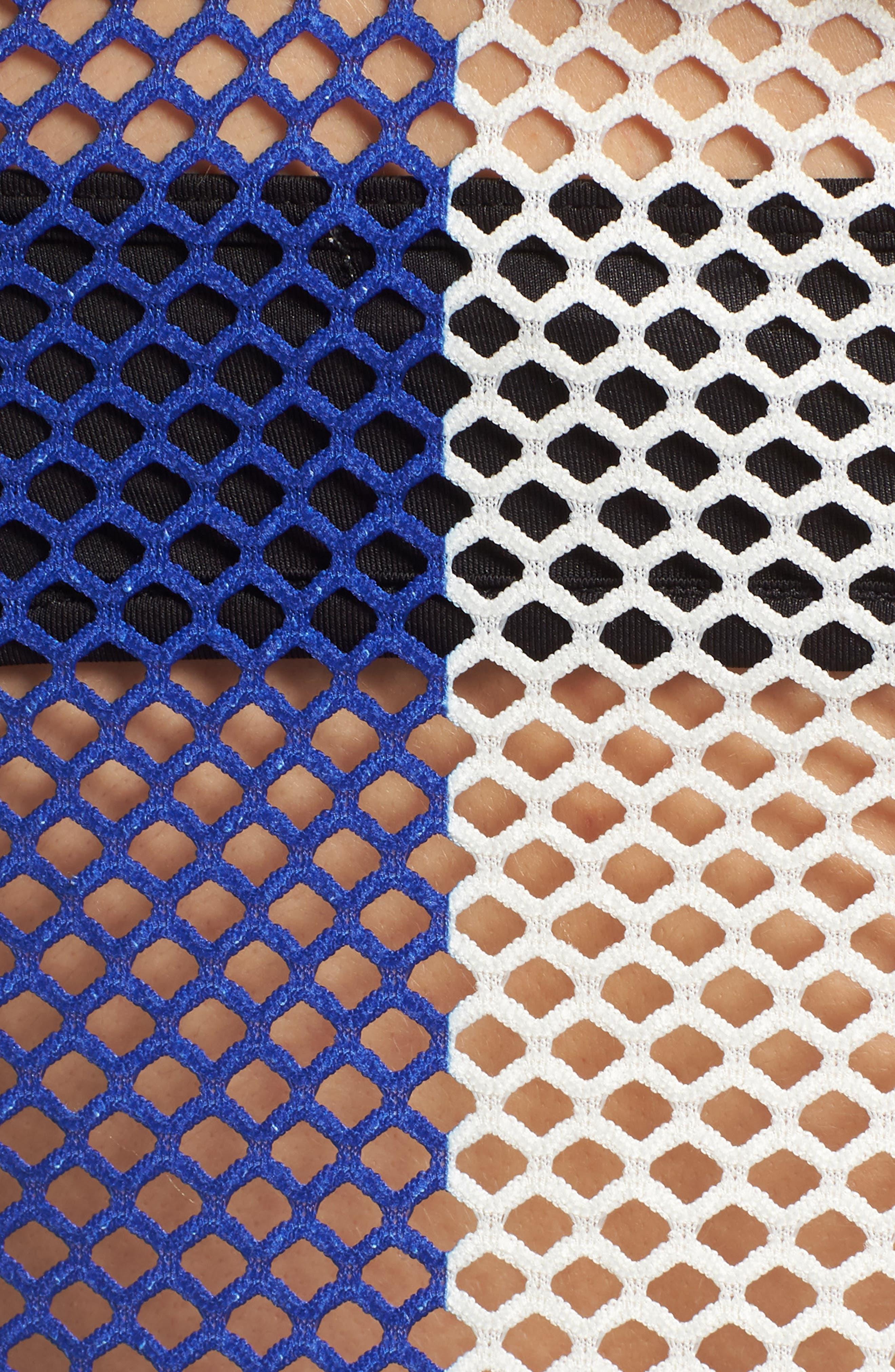 FENTY PUMA by Rihanna Mesh Crop Tank,                             Alternate thumbnail 6, color,                             Bluefish