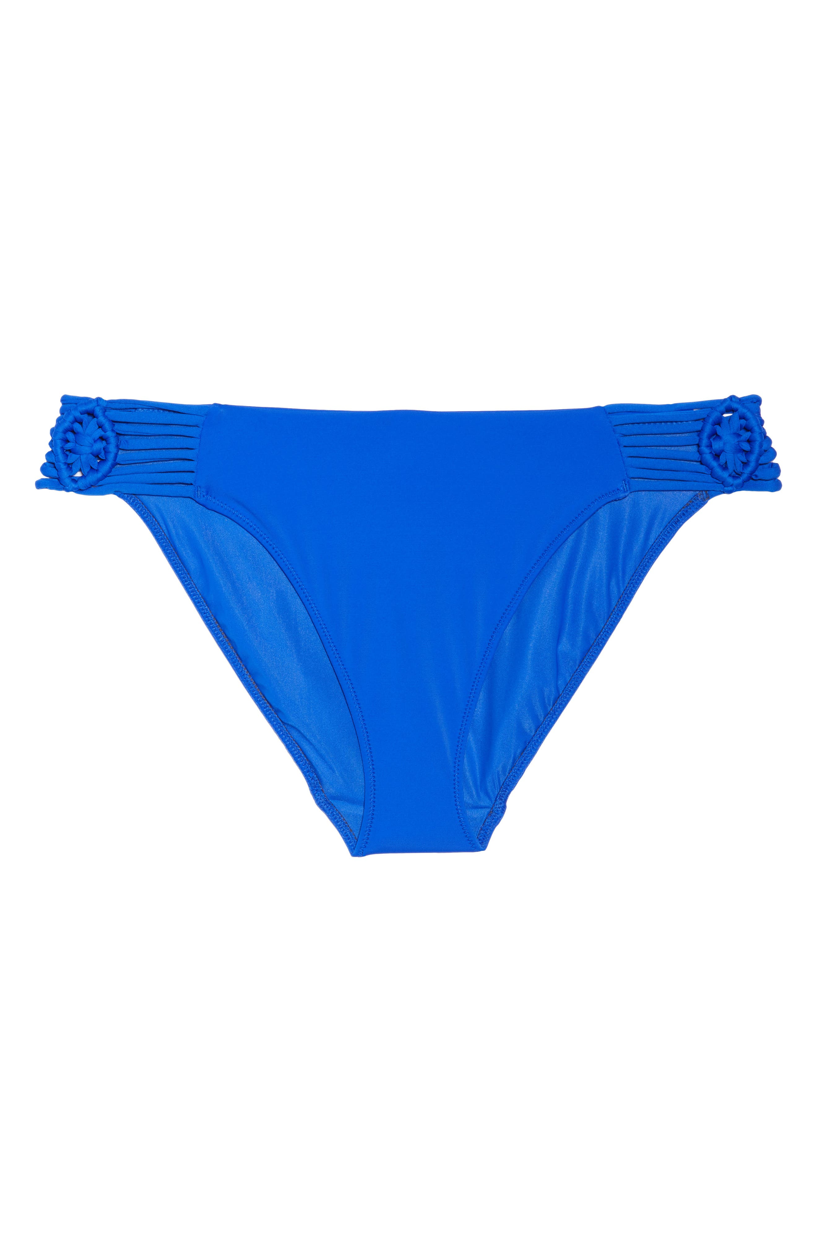 Macramé Bikini Bottoms,                             Alternate thumbnail 9, color,                             Cobalt