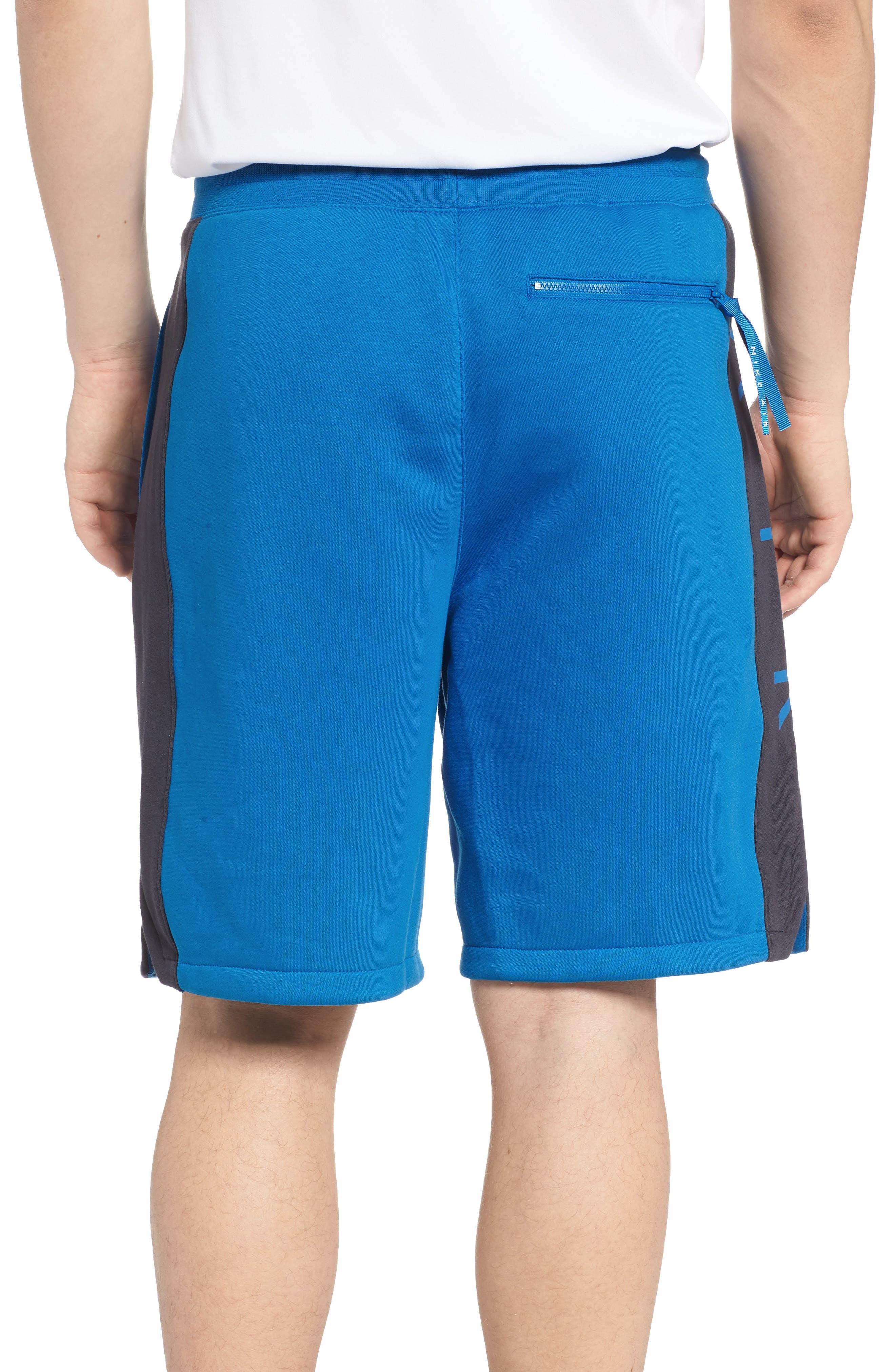 Sportswear Air Fleece Shorts,                             Alternate thumbnail 2, color,                             Blue Nebula/ Anthracite/ White