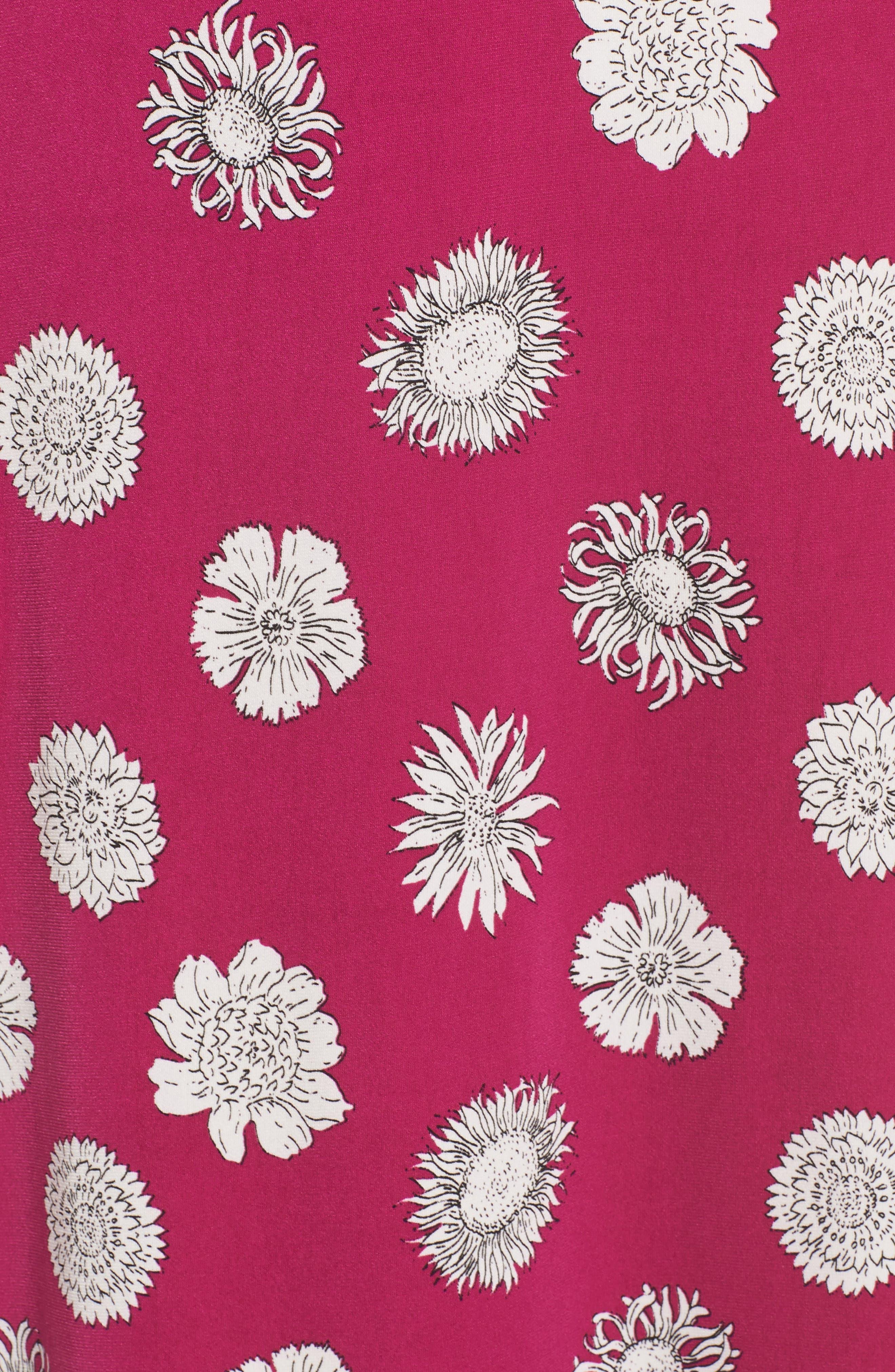 Botanical Tropics Halter Maxi Dress,                             Alternate thumbnail 6, color,                             Fuchsia Fury