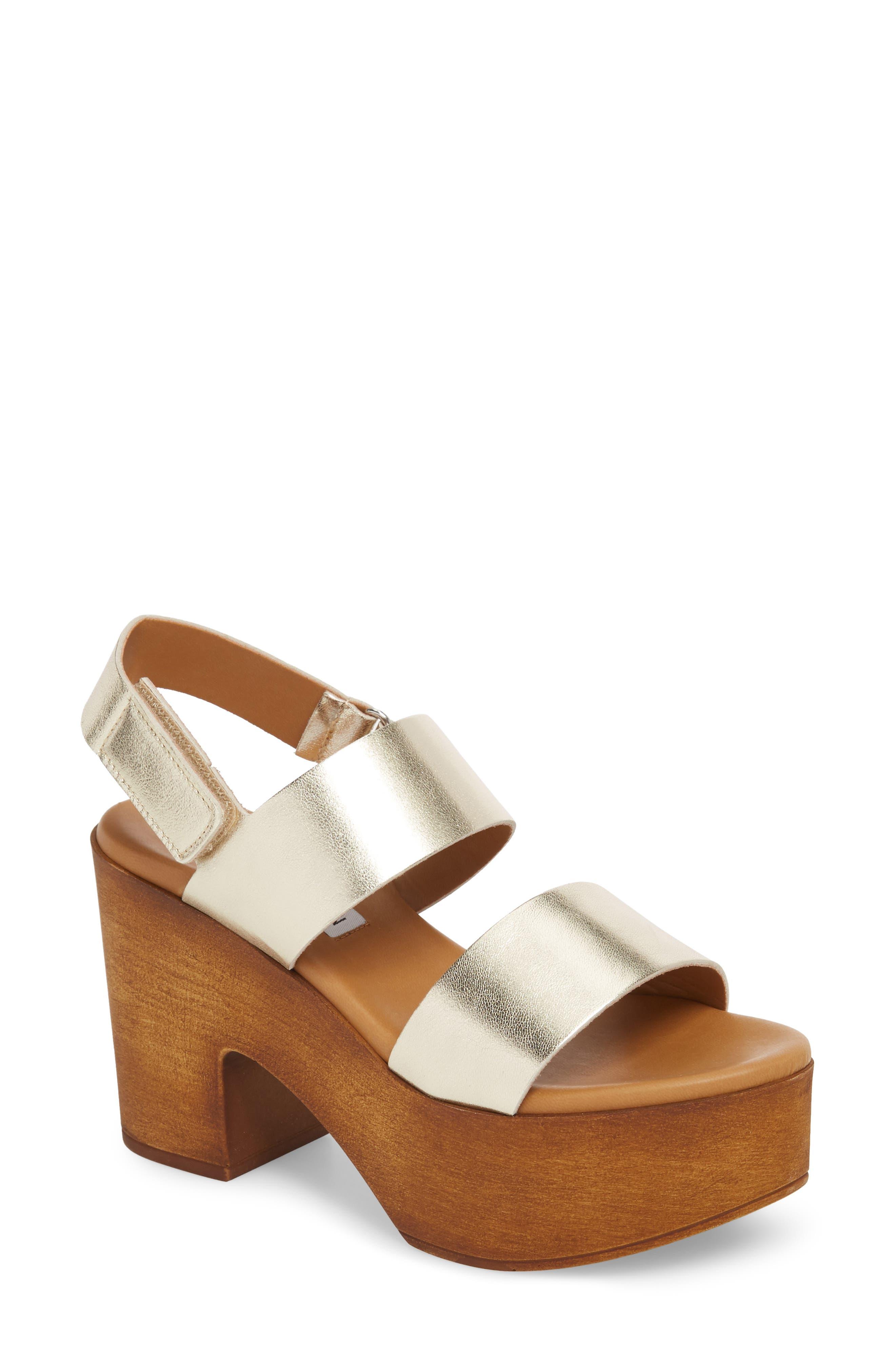 Marena Slingback Platform Sandal,                             Main thumbnail 1, color,                             Champagne