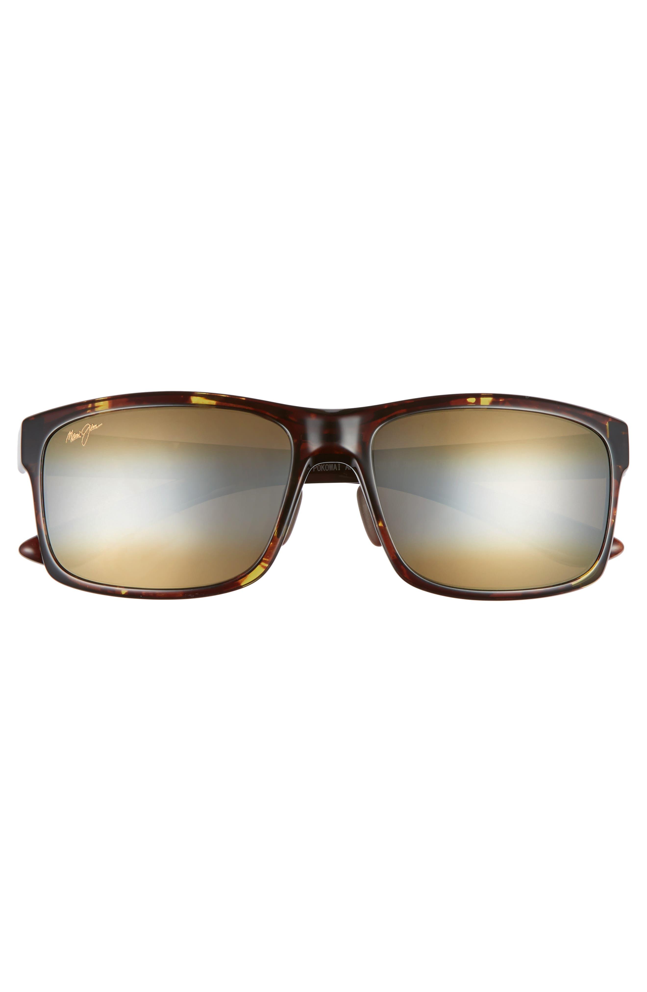 Pokowai Arch 58mm Polarized Sunglasses,                             Alternate thumbnail 2, color,                             Olive Tortoise/ Bronze