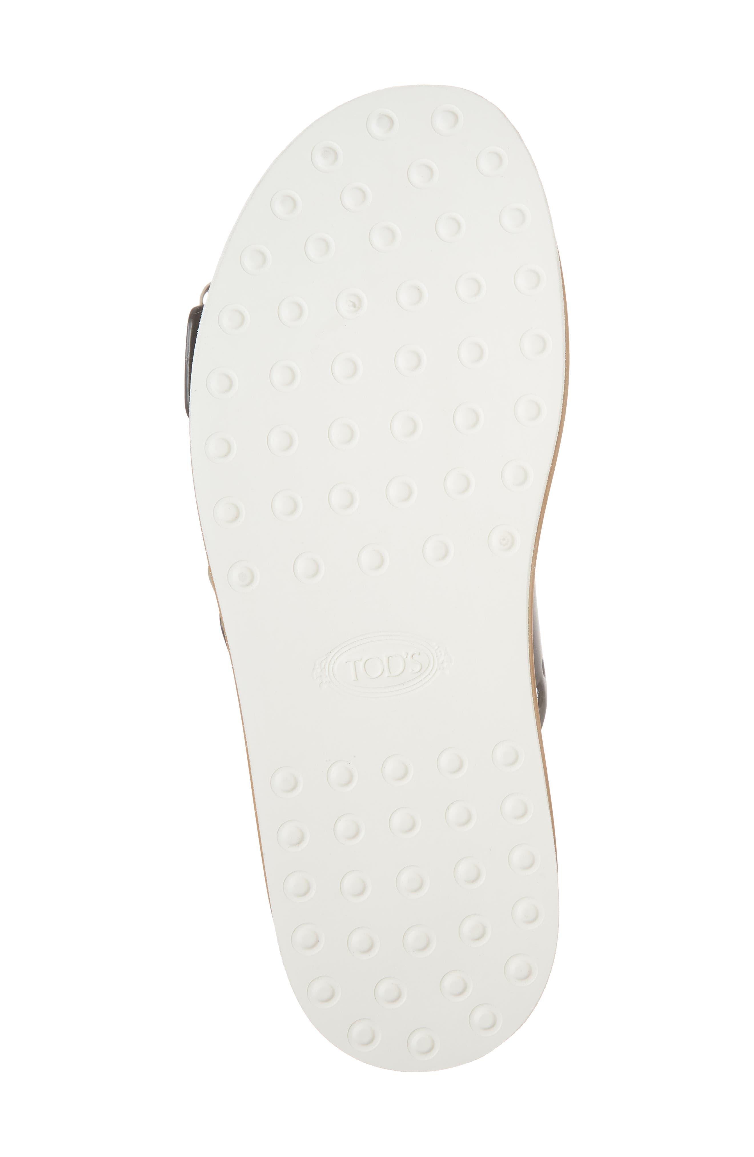 Perforated Platform Slide Sandal,                             Alternate thumbnail 6, color,                             Black