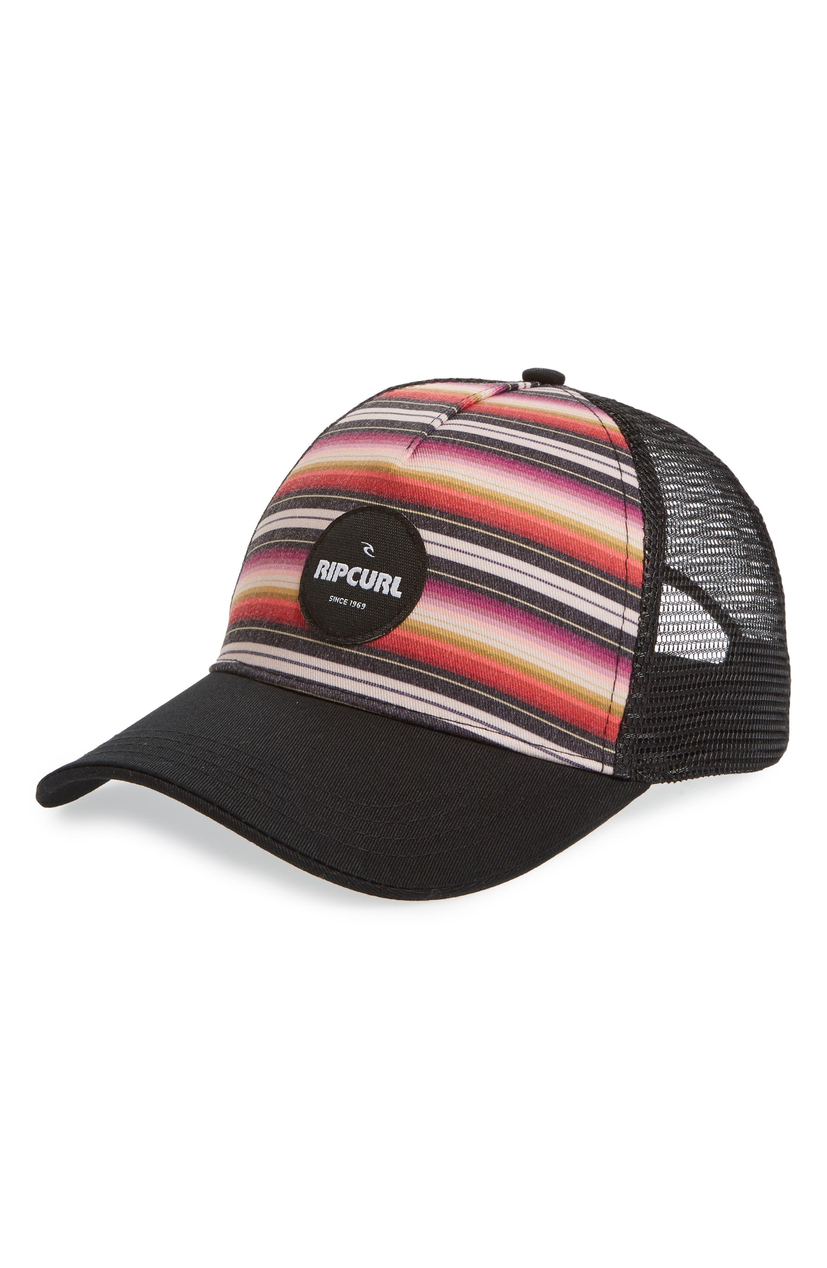 Sayulita Trucker Hat,                             Main thumbnail 1, color,                             Black