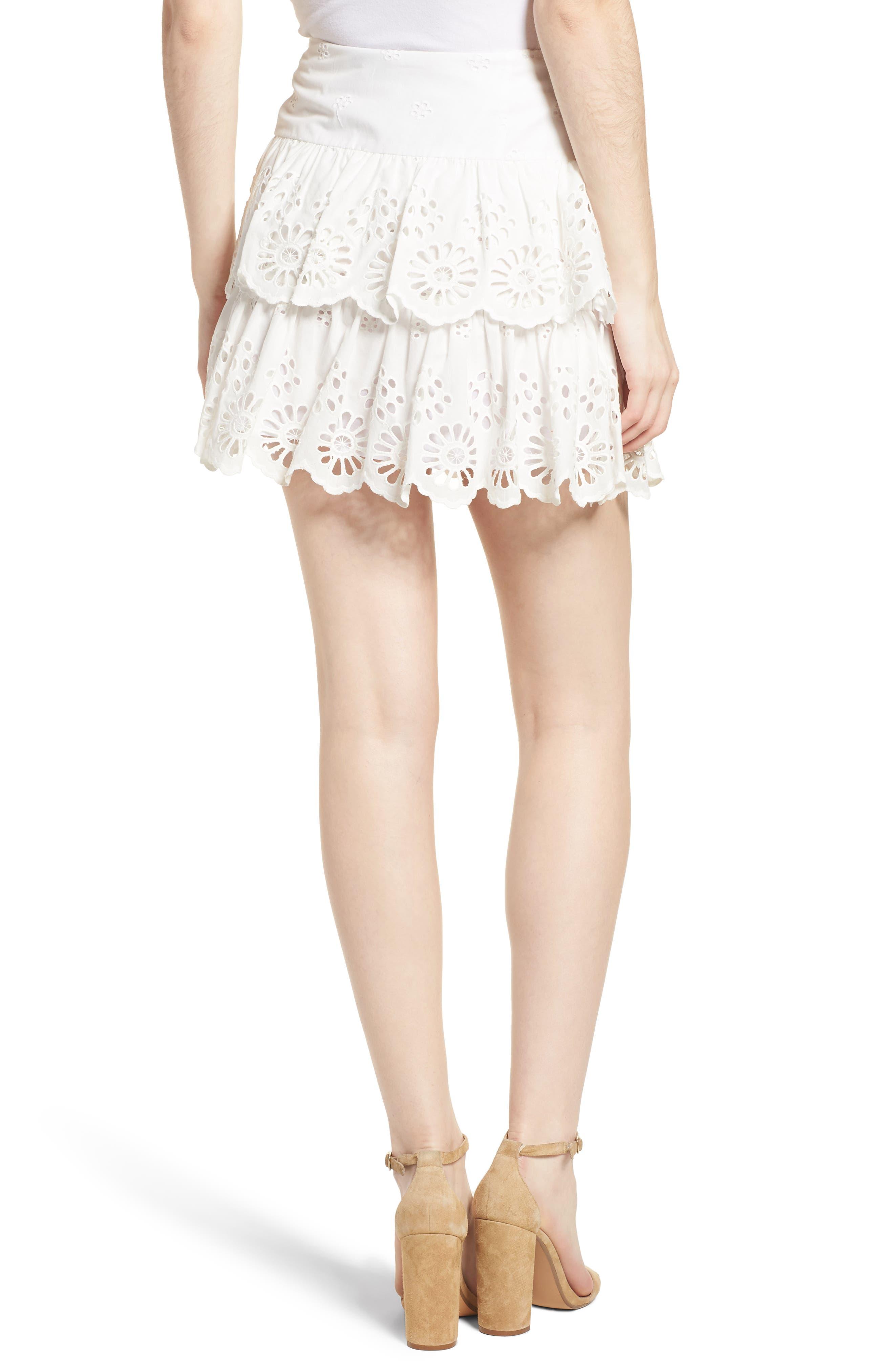 Nell Skirt,                             Alternate thumbnail 2, color,                             White